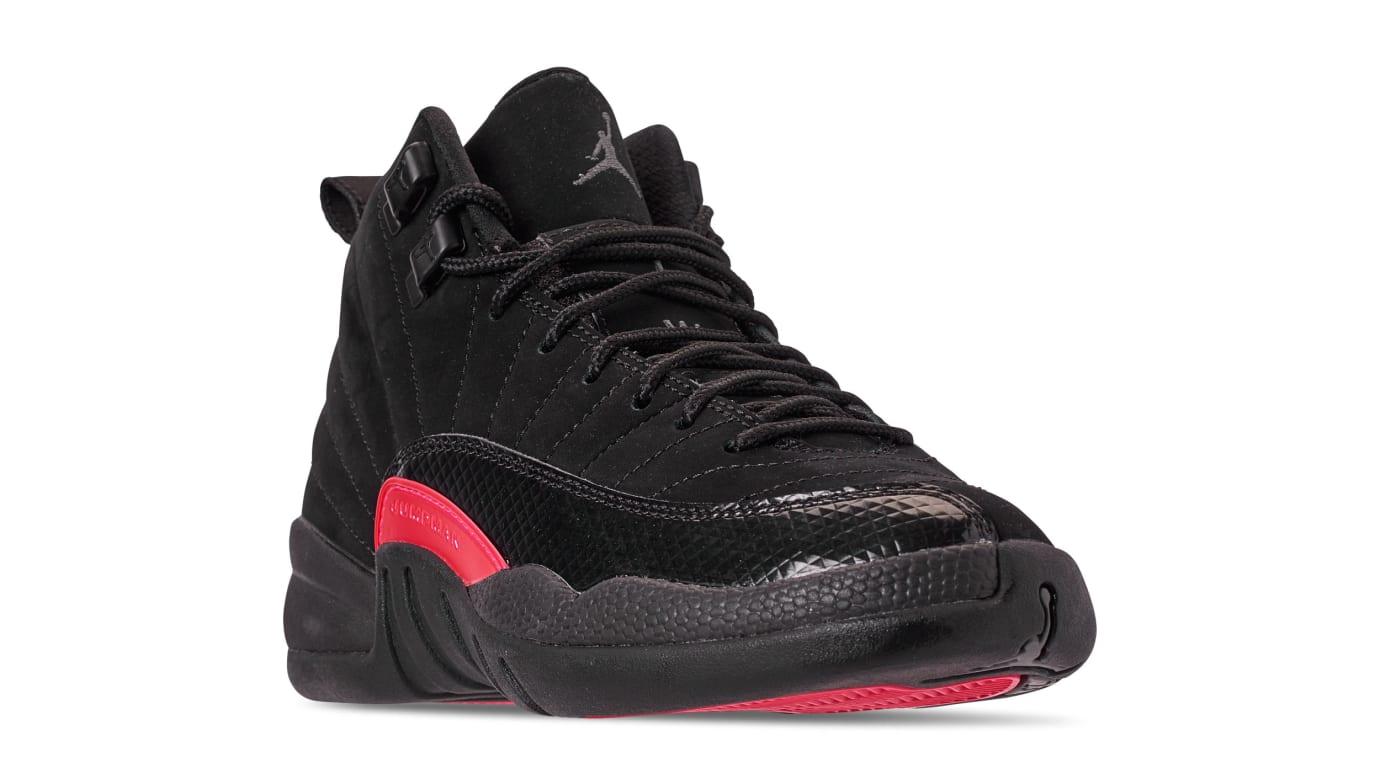 new style 543f8 b73a0 Image via Nike Air Jordan 12 Retro GG  Black Dark Grey Rush Pink  510815-