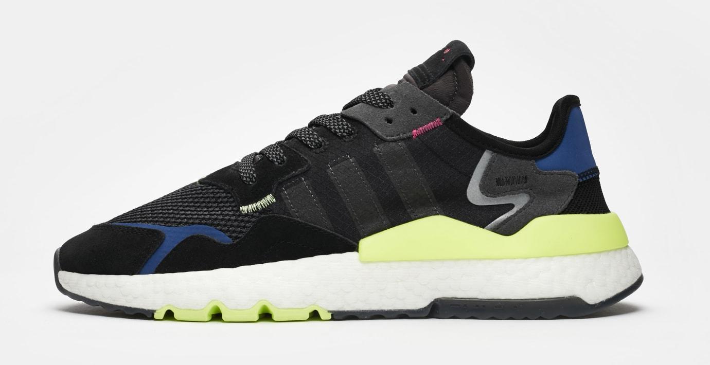 SNS x Adidas Nite Jogger 'Black/Carbon-Grey Six' EE9462 (Lateral)