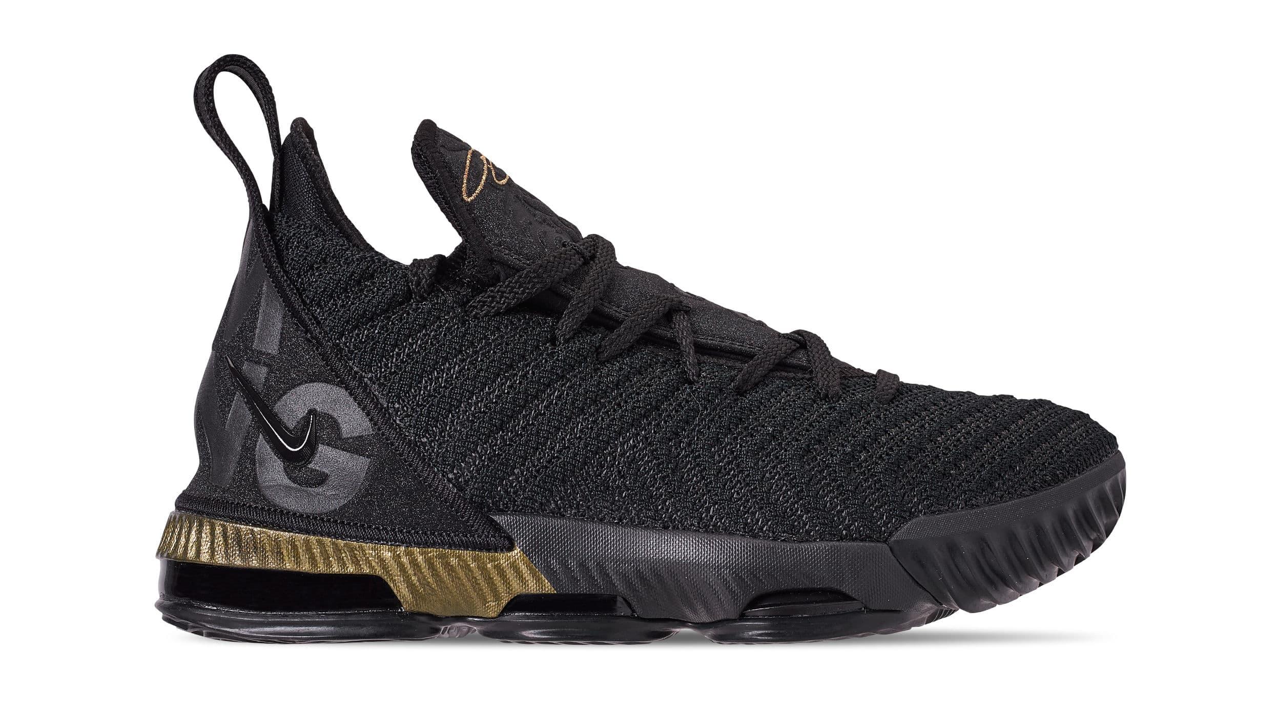 san francisco 9af86 8faca Nike LeBron 16 'I'm King' Black/Metallic Gold-Black BQ5970 ...