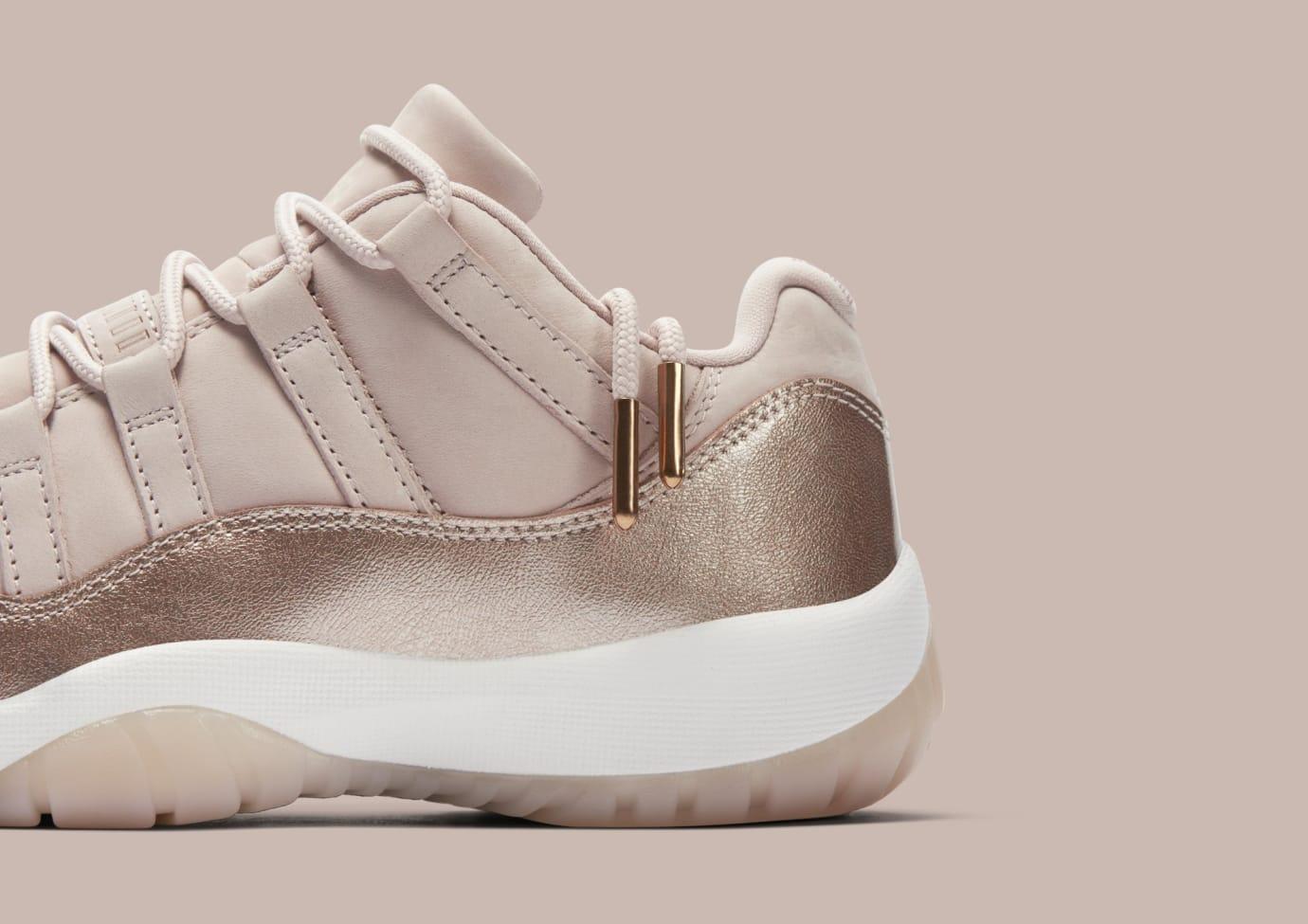 ca5fd38e175 Image via Nike Air Jordan 11 Low  Rose Gold  AH7860-105 (Detail)