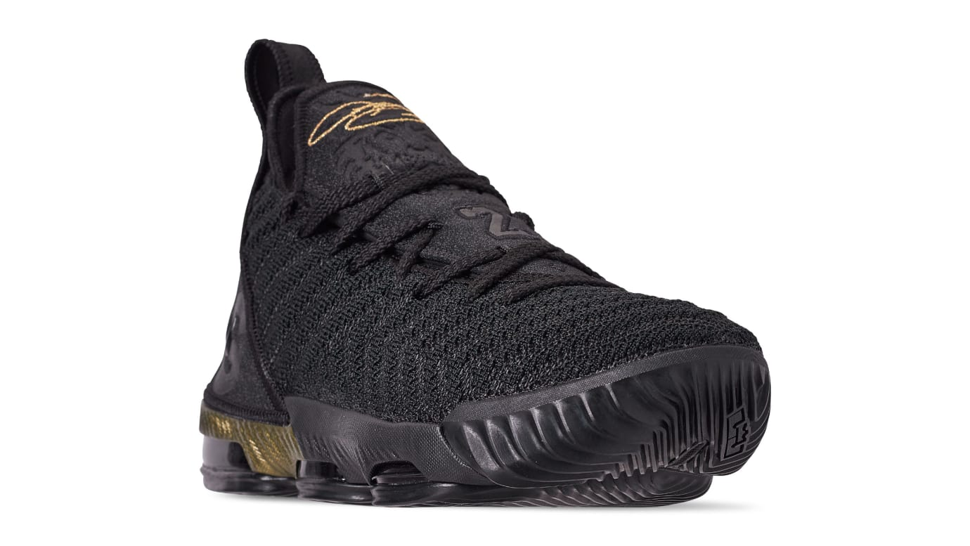 reputable site 2ab65 1102a Image via US11 · Nike LeBron 16  I m King  Black Metallic Gold-Black AQ2465