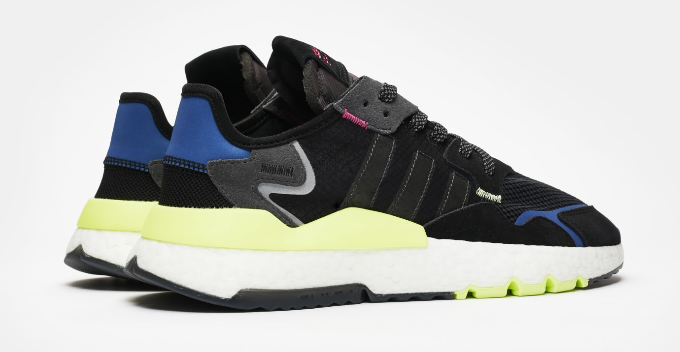 SNS x Adidas Nite Jogger 'Black/Carbon-Grey Six' EE9462 (Heel)