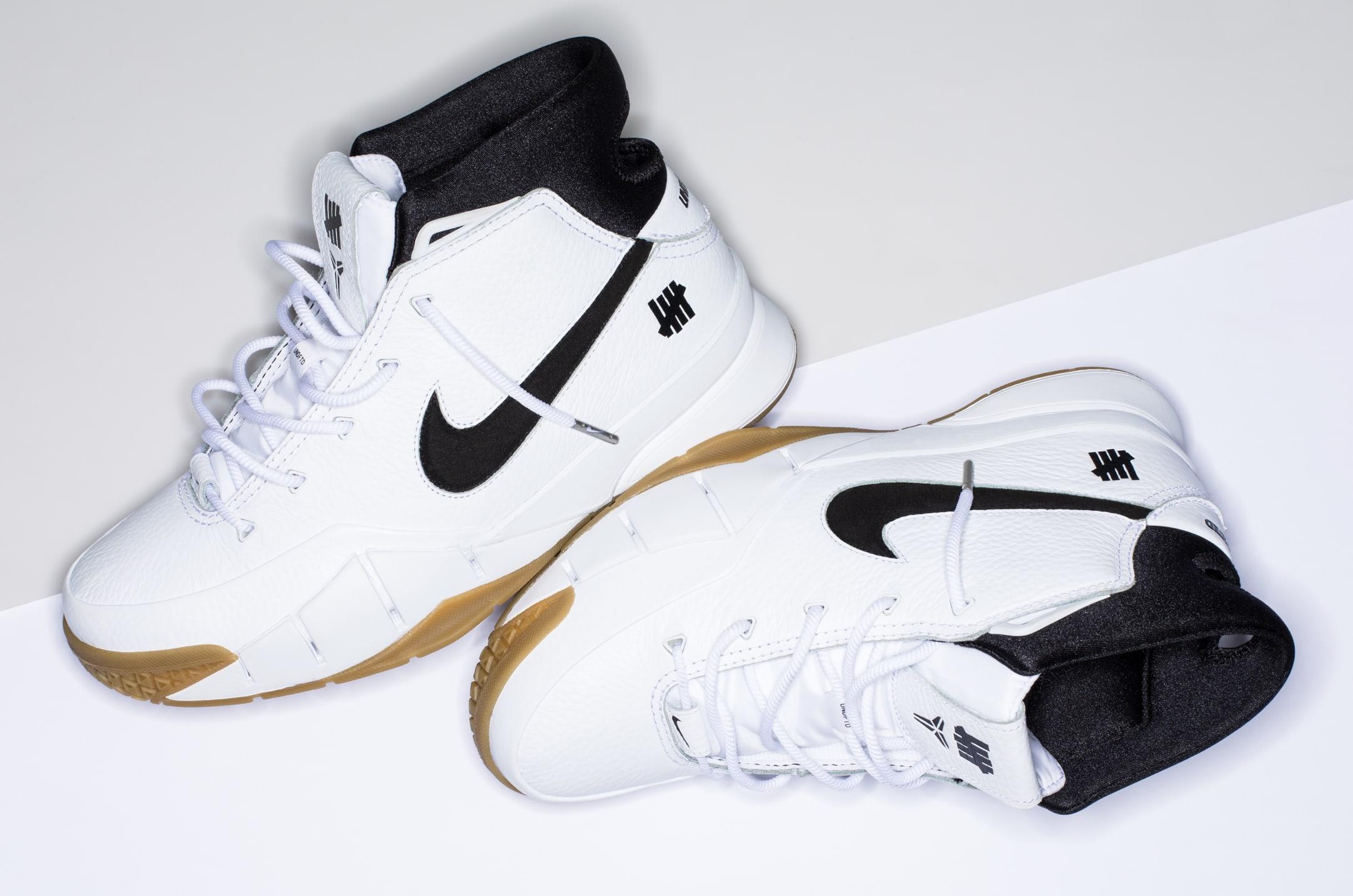 Undefeated x Nike Kobe 1 Protro 'White/Gum' 7