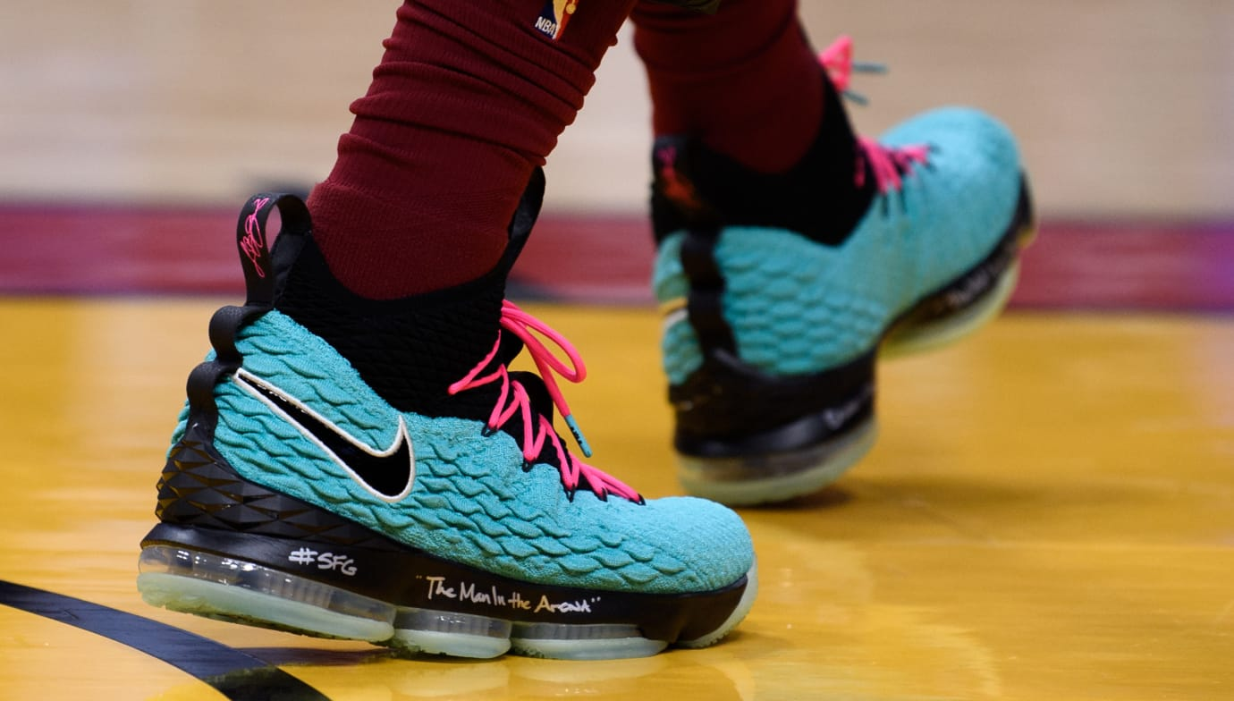 online store 1a4fe f2dd2 Nike LeBron 15  South Beach  (On-Court)