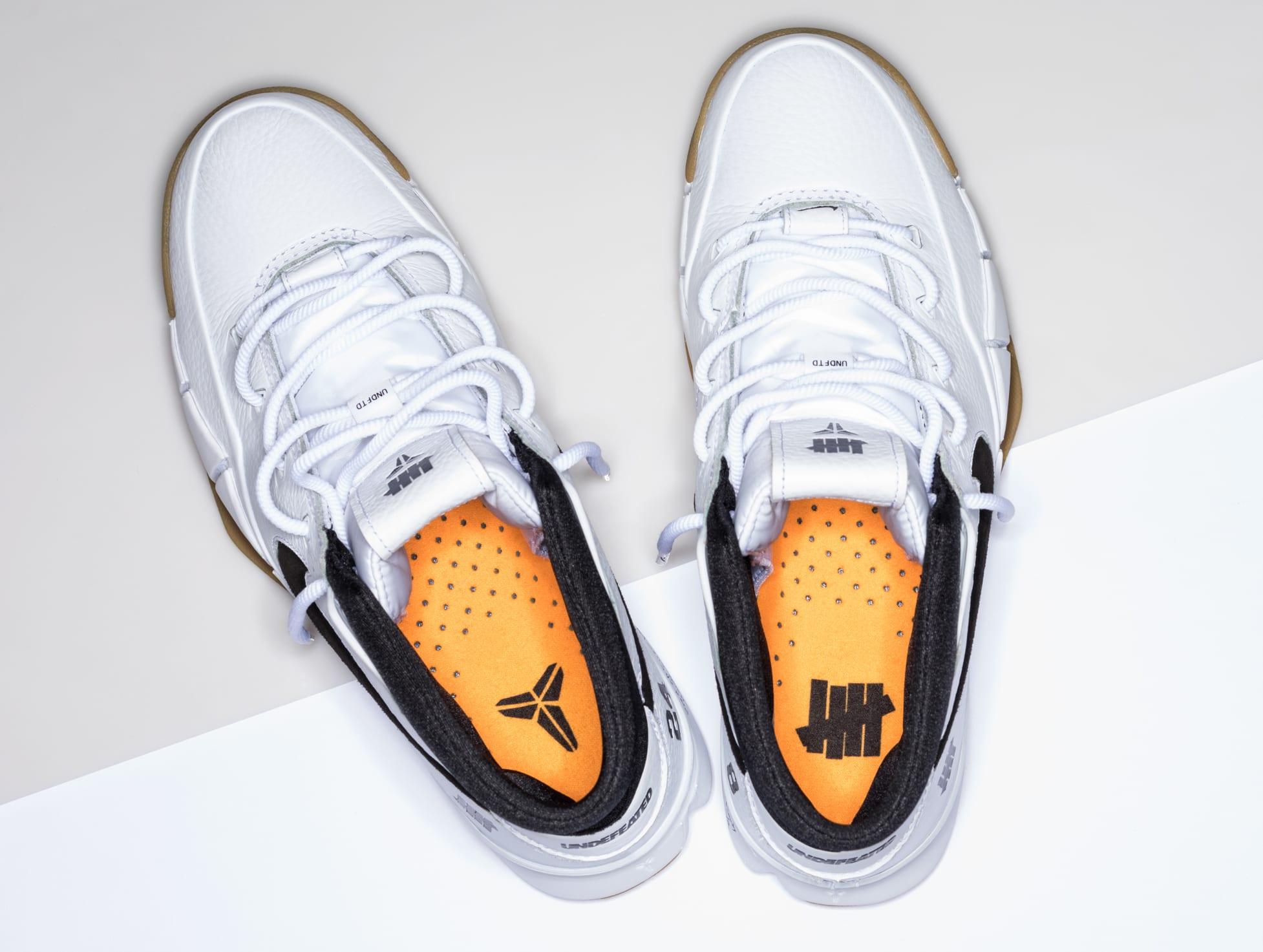 Undefeated x Nike Kobe 1 Protro 'White/Gum' 6