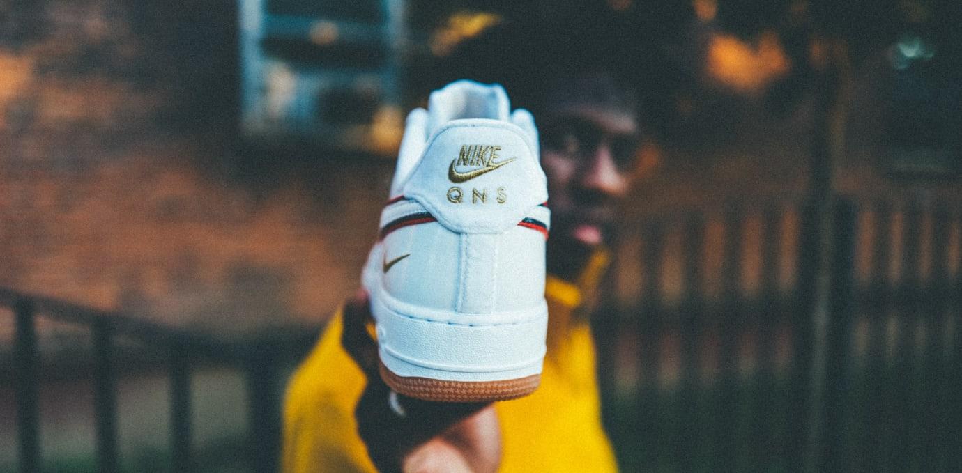 Nigel Sylvester x Nike Air Force 1 iD 'White' (Heel)