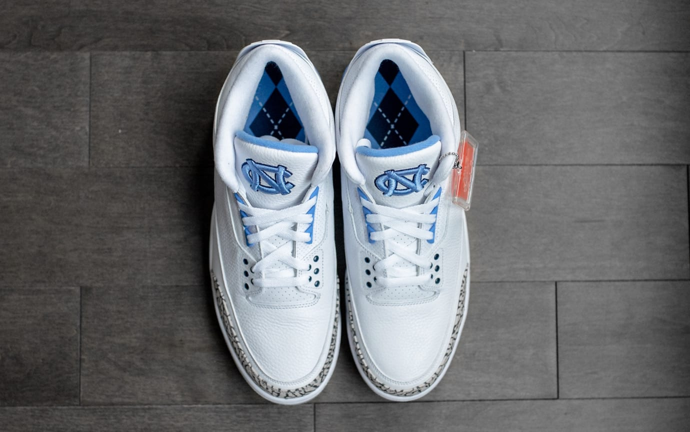 7c190925a8d Image via  englishsole · Air Jordan 3  UNC  (Top)