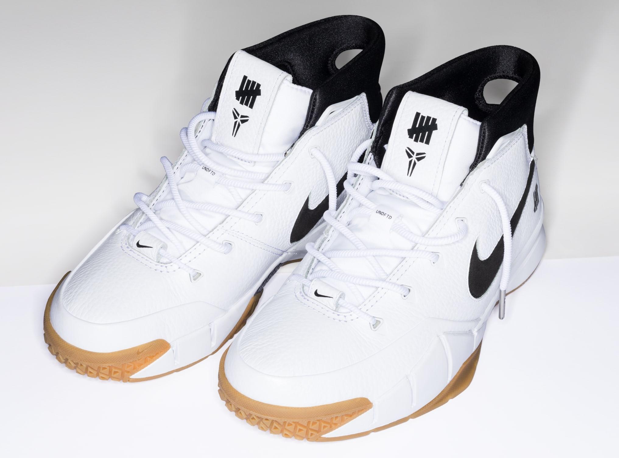 Undefeated x Nike Kobe 1 Protro 'White/Gum' 4