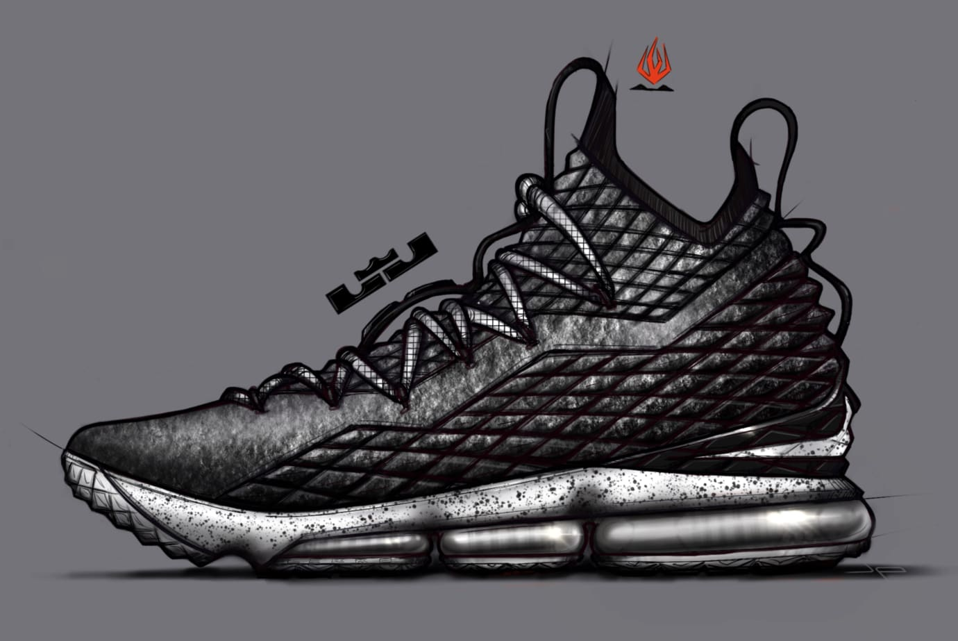 Nike LeBron 15 'Ashes' Sketch