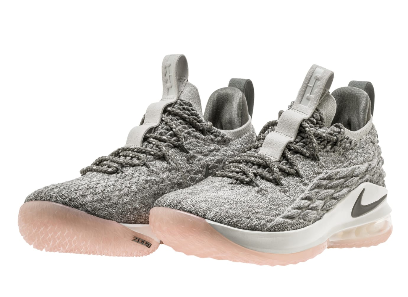 f517fc79e6d2 Image via Nike Nike LeBron 15 Low Light Bone Dark Stucco Sail AO1755-003  Pair
