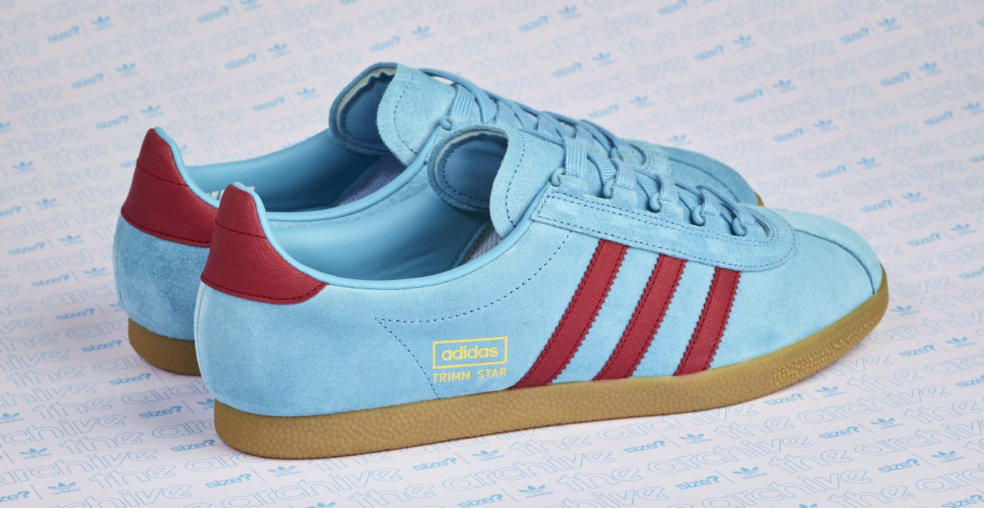 Size  Exclusive Adidas Trimm Star  Light Blue Burgundy  Release Date ... 4923e8077