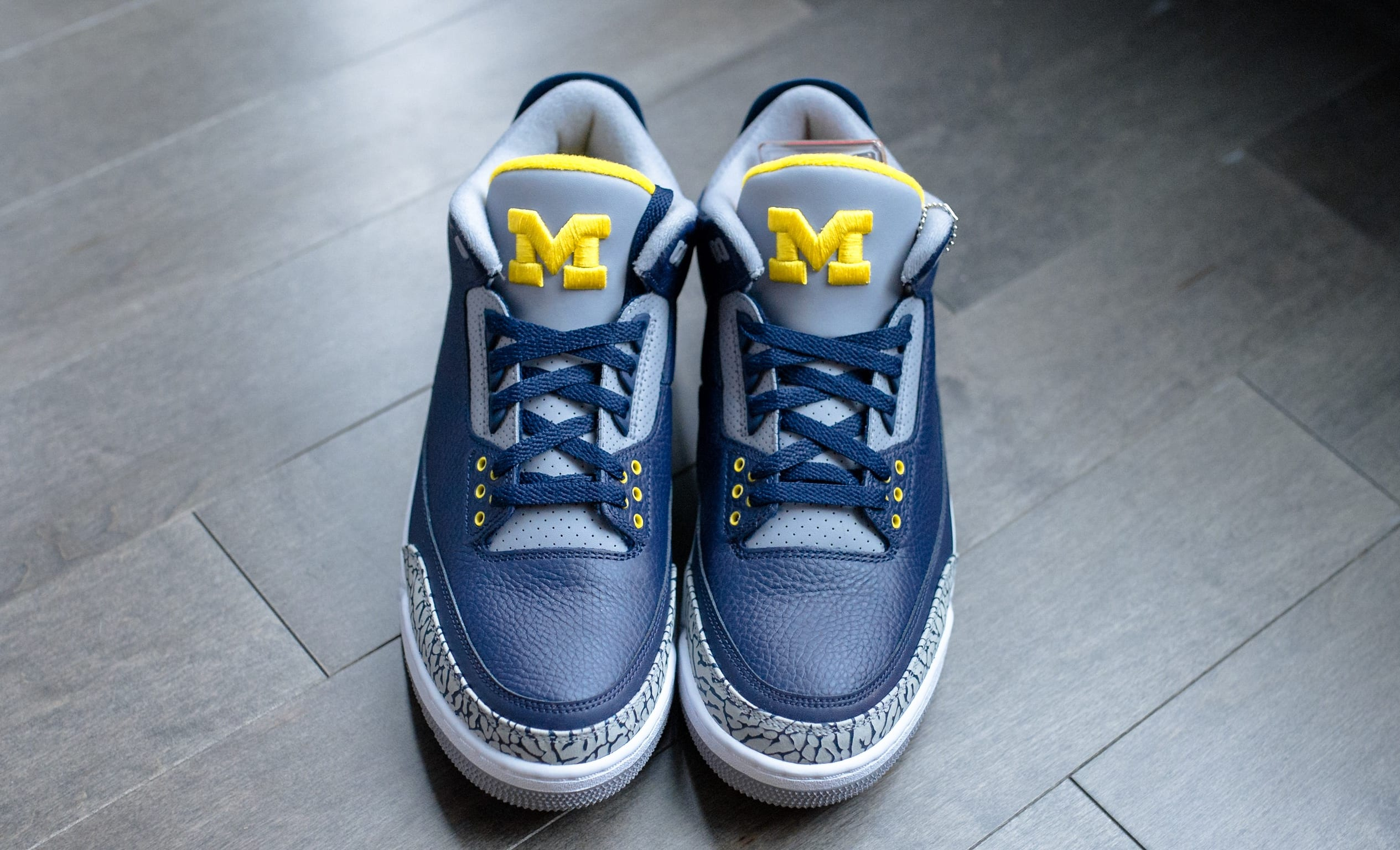 Air Jordan 3 'Michigan' PE (Front)