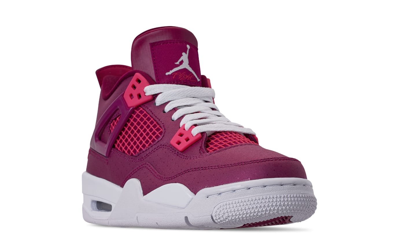 3d54a7a98cb8c4 Air Jordan 4 Retro GS  Valentine s Day  True Berry Rush Pink White ...