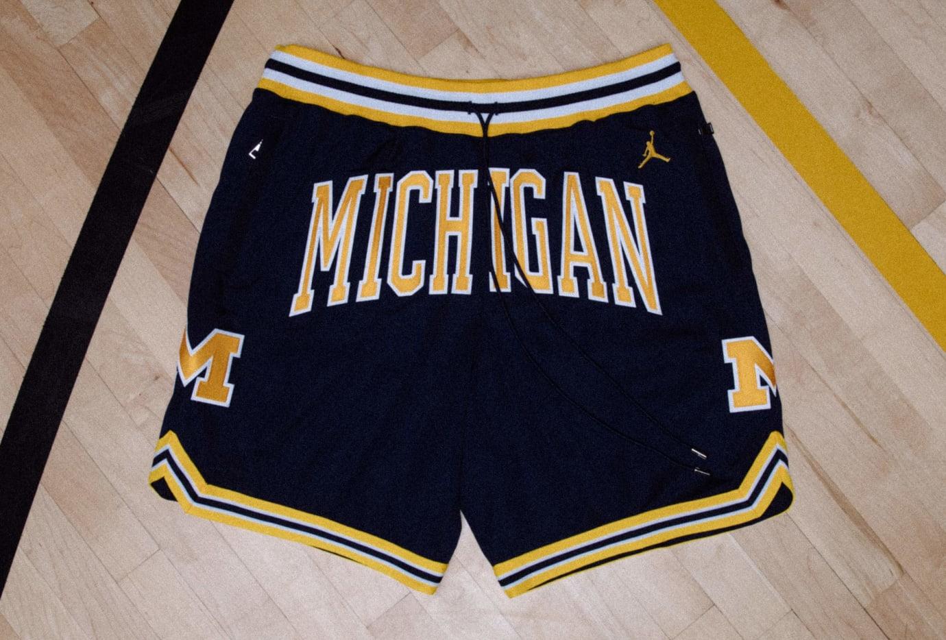 Just Don x Jordan Flight Shorts Release Date Michigan Blue