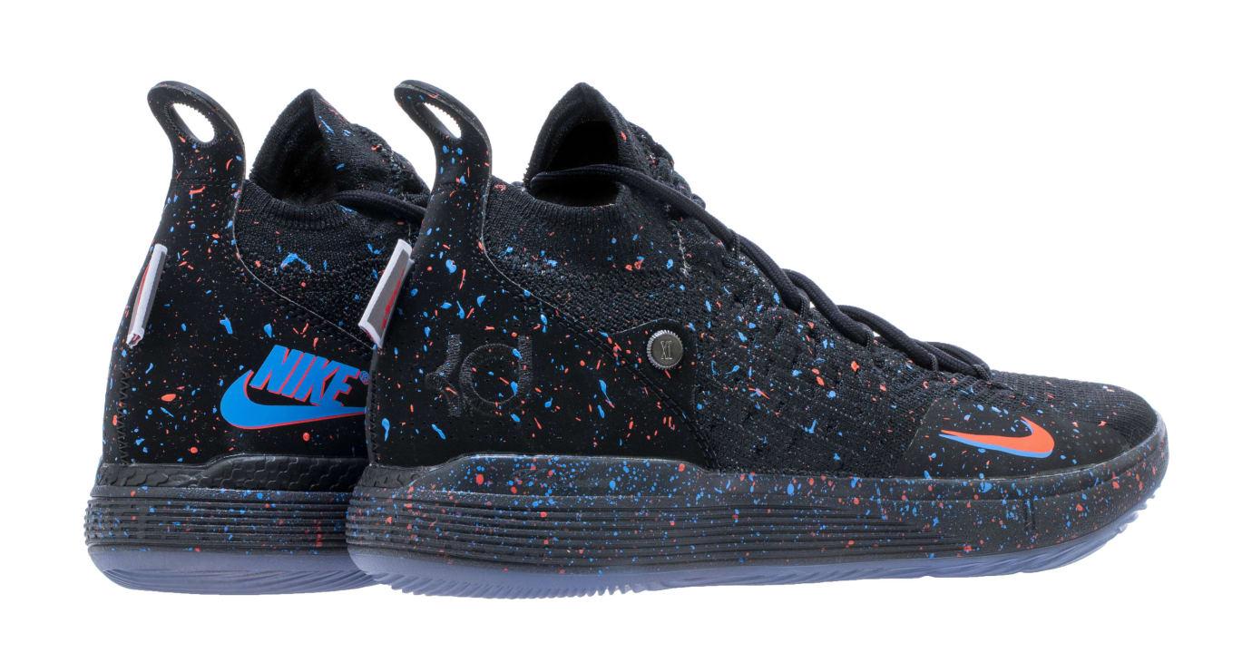 Nike KD 11 'Just Do It' Black/Bright Crimson-Photo Blue AO2604-007 (Heel)