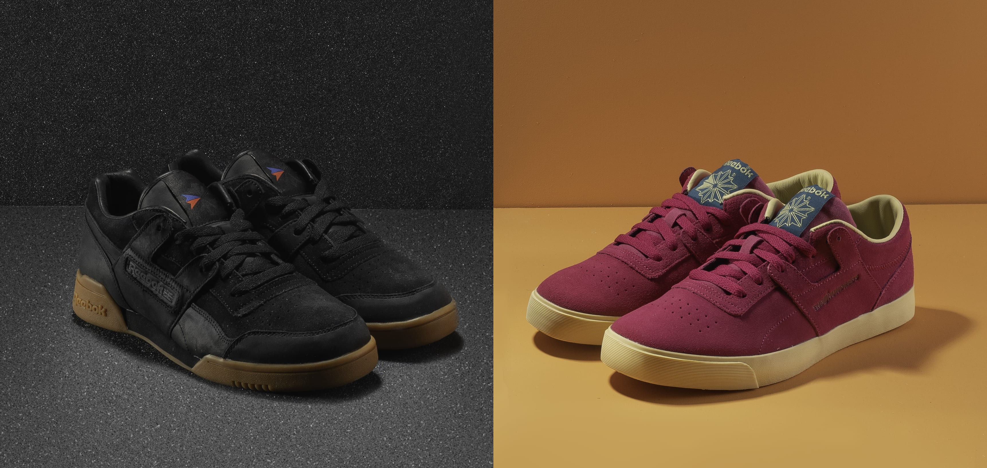 The Hundreds x Reebok Workout Plus and Workout FVS (Side by Side)