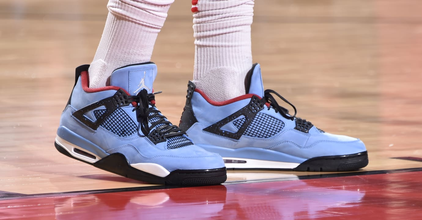 bbbbf7af341a Travis Scott Debuts His  Cactus Jack  Air Jordan 4 Sneakers With ...