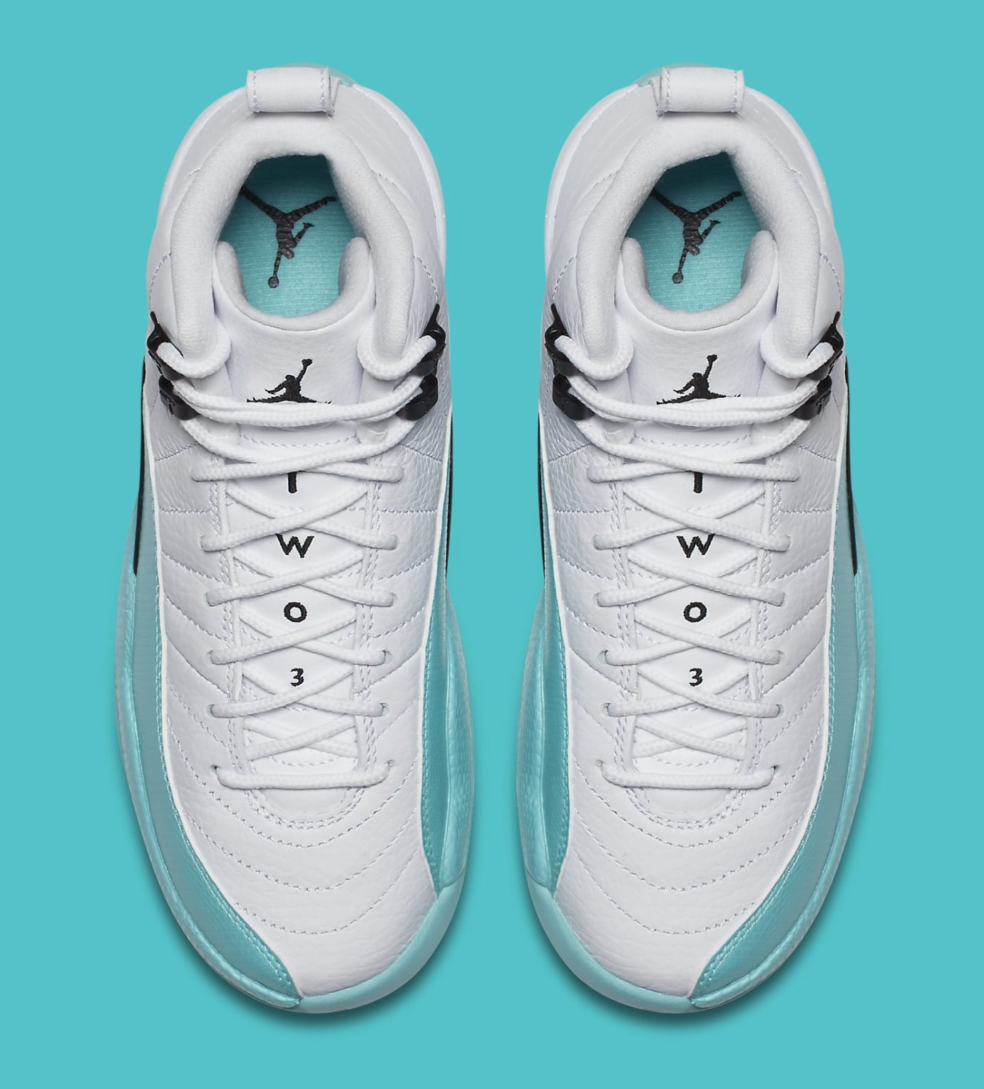 ef108af211ea Air Jordan 12 Retro GG  White Light Aqua-Black  510815-100 Release ...