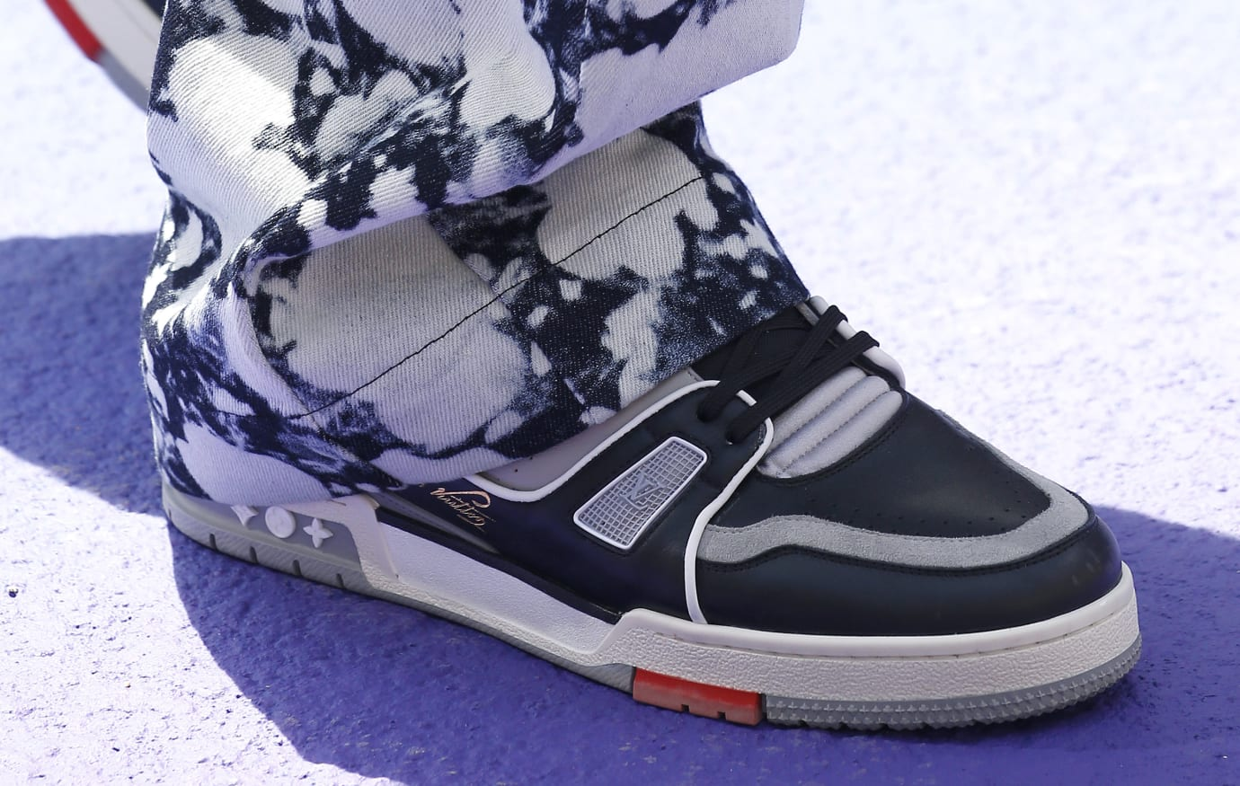 Virgil Abloh's Louis Vuitton Sneaker in Black/Grey