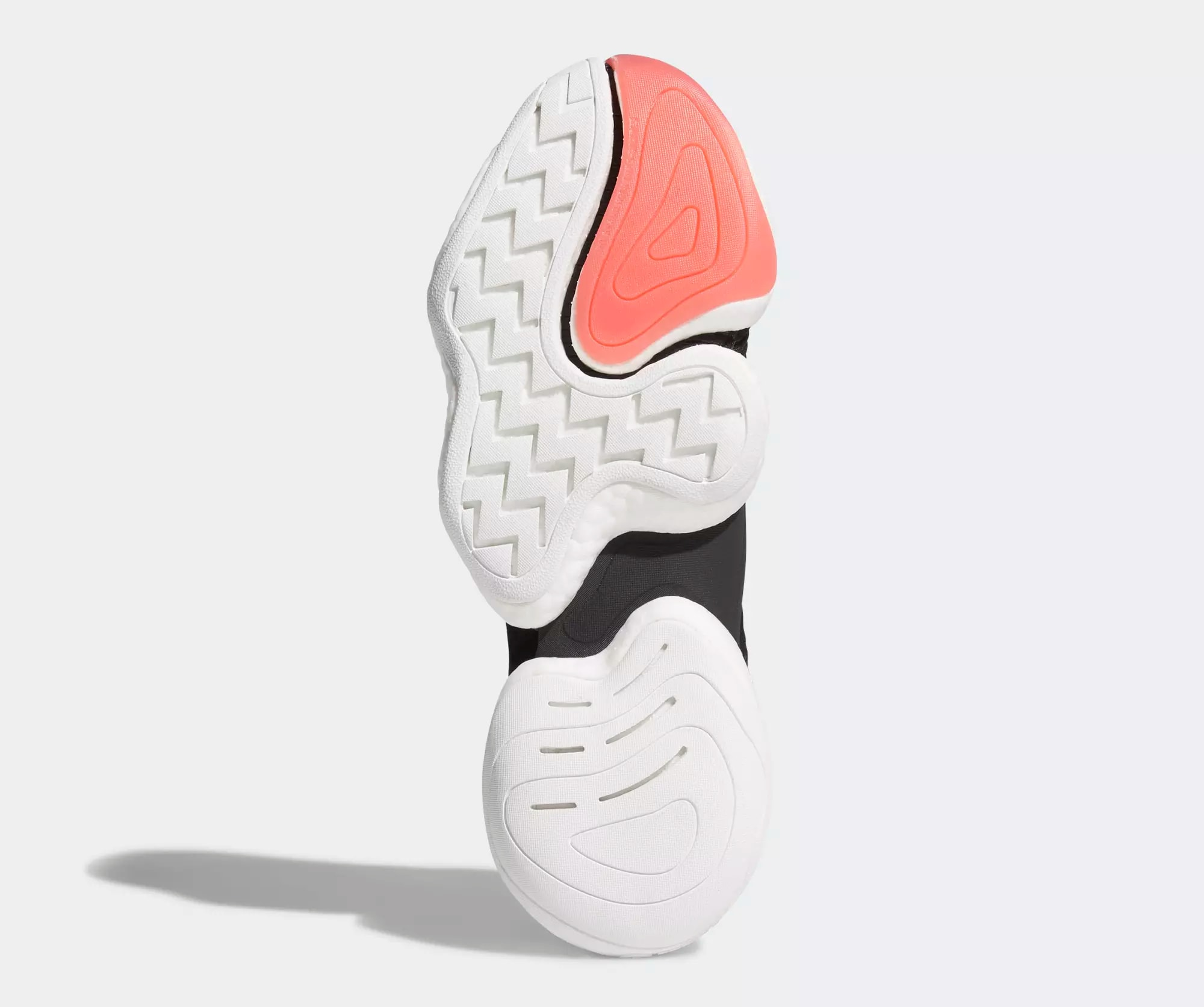Adidas Crazy BYW 'Core Black/Cloud White/Bright Red' B37480 (Sole)