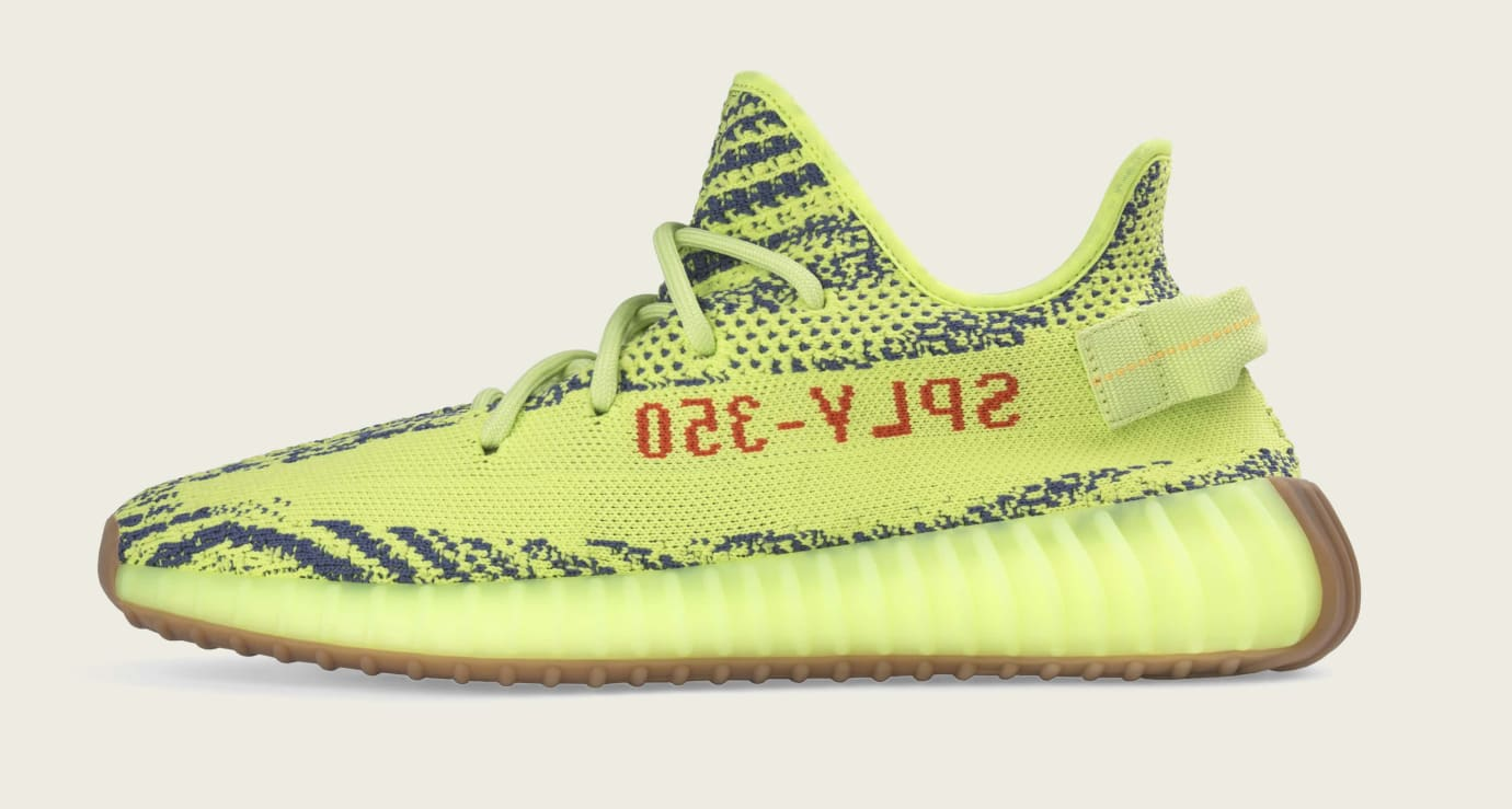 Adidas Yeezy Boost 350 V2 'Semi Frozen Yellow' B37572 (Medial)