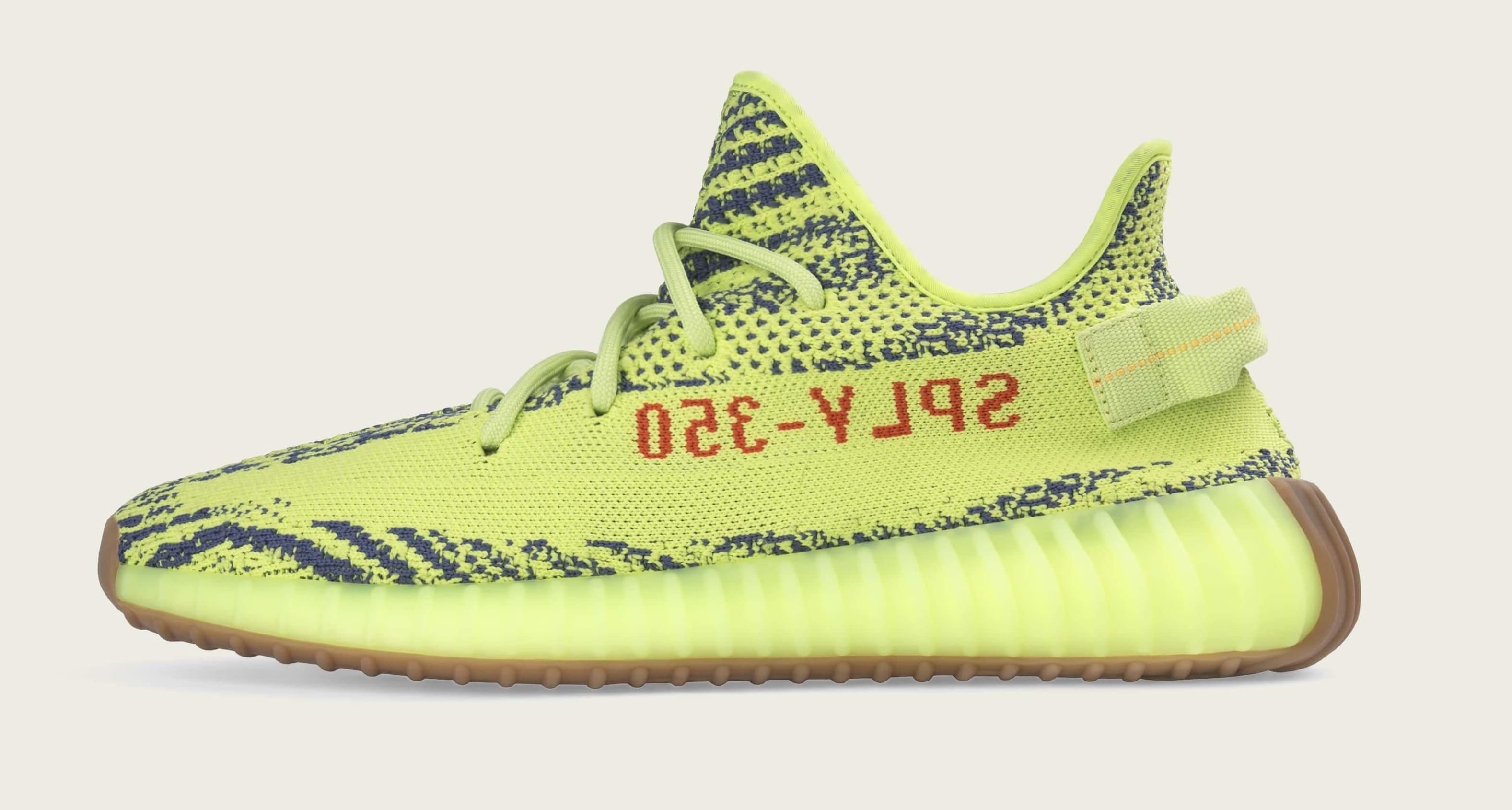 Adidas Yeezy Boost 350 V2 'Semi Frozen Yellow' B37572 (Medial)