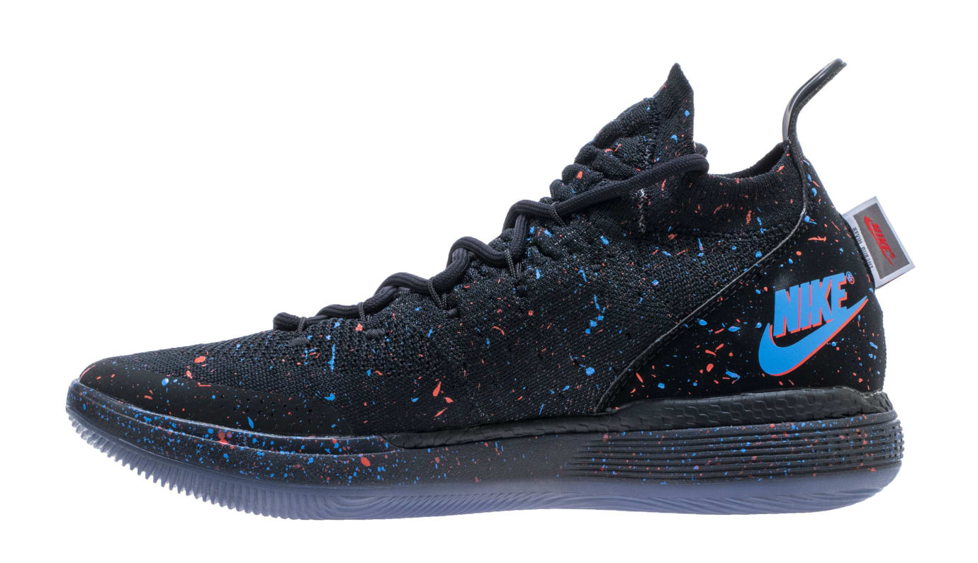 Nike KD 11 'Just Do It' Black/Bright Crimson-Photo Blue AO2604-007 (Medial)