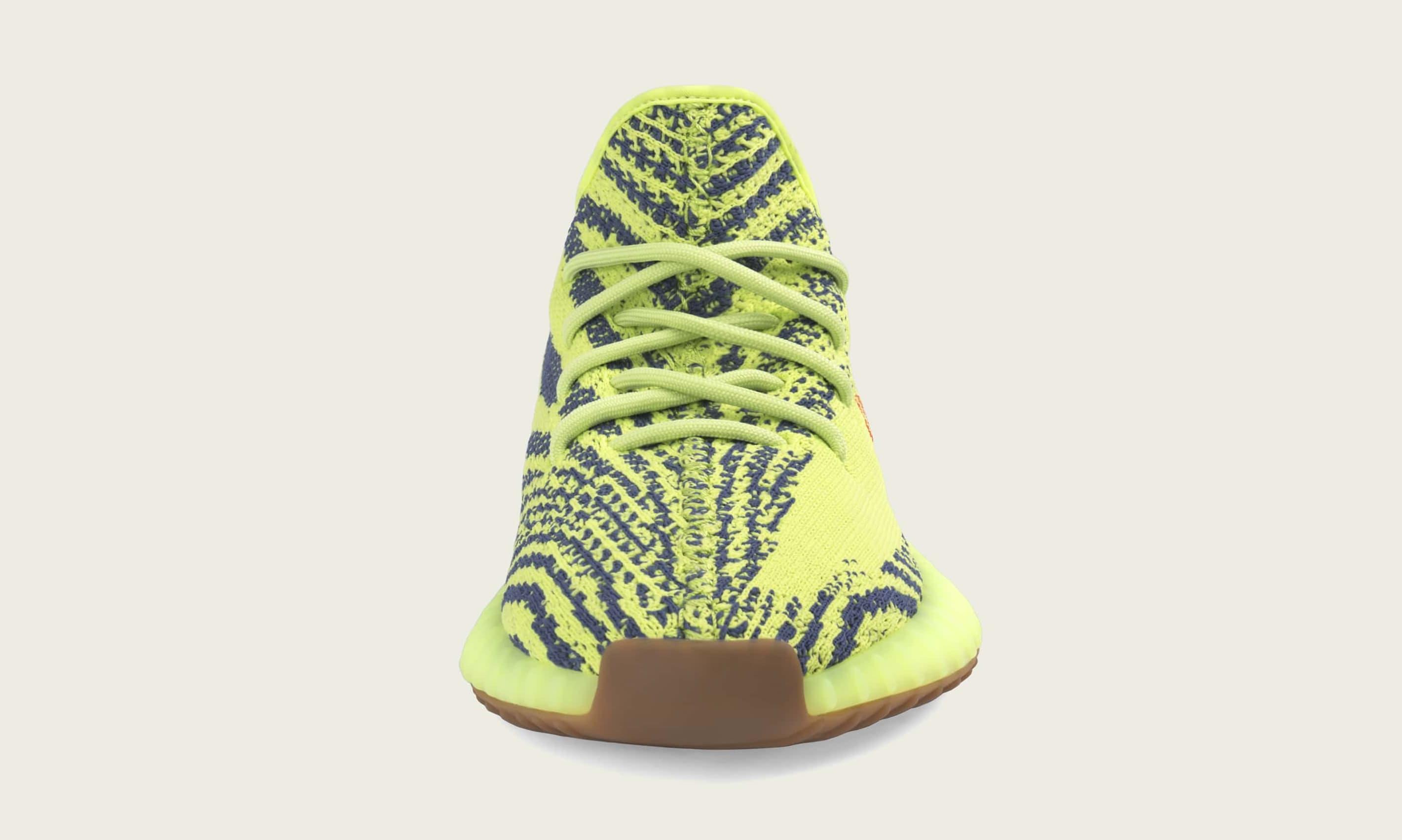 Adidas Yeezy Boost 350 V2 'Semi Frozen Yellow' B37572 (Front)