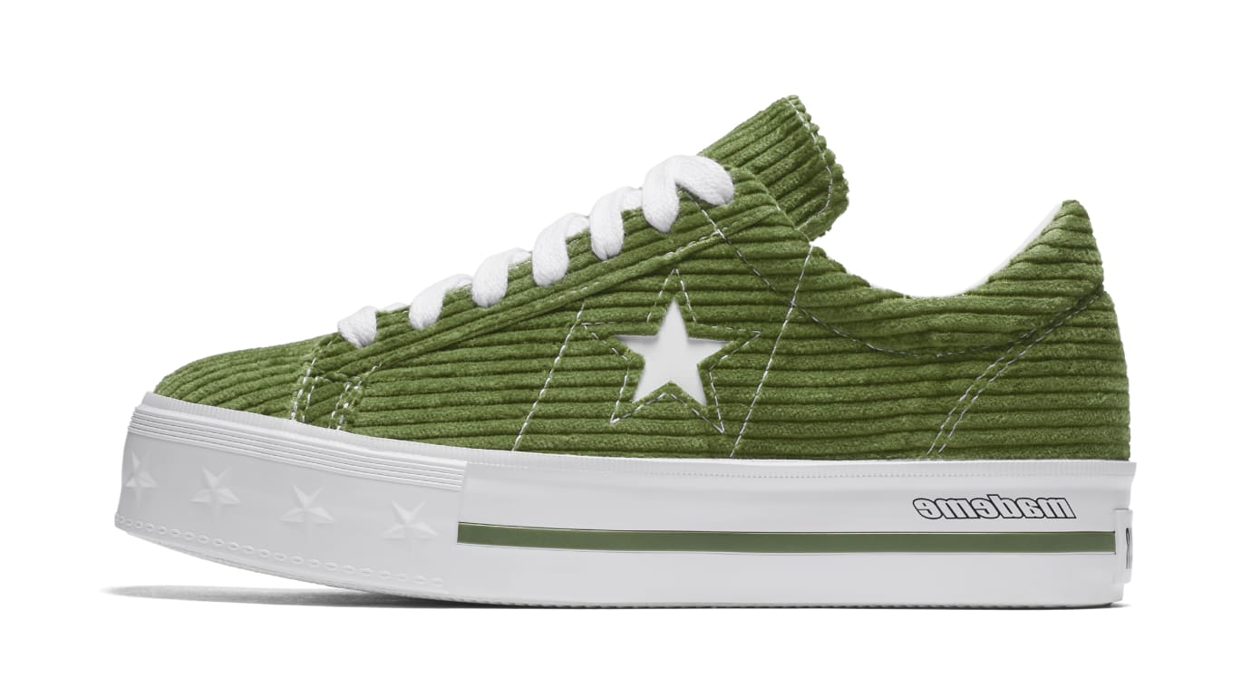 Mademe x Converse One Star 'Garden Green' (Lateral)