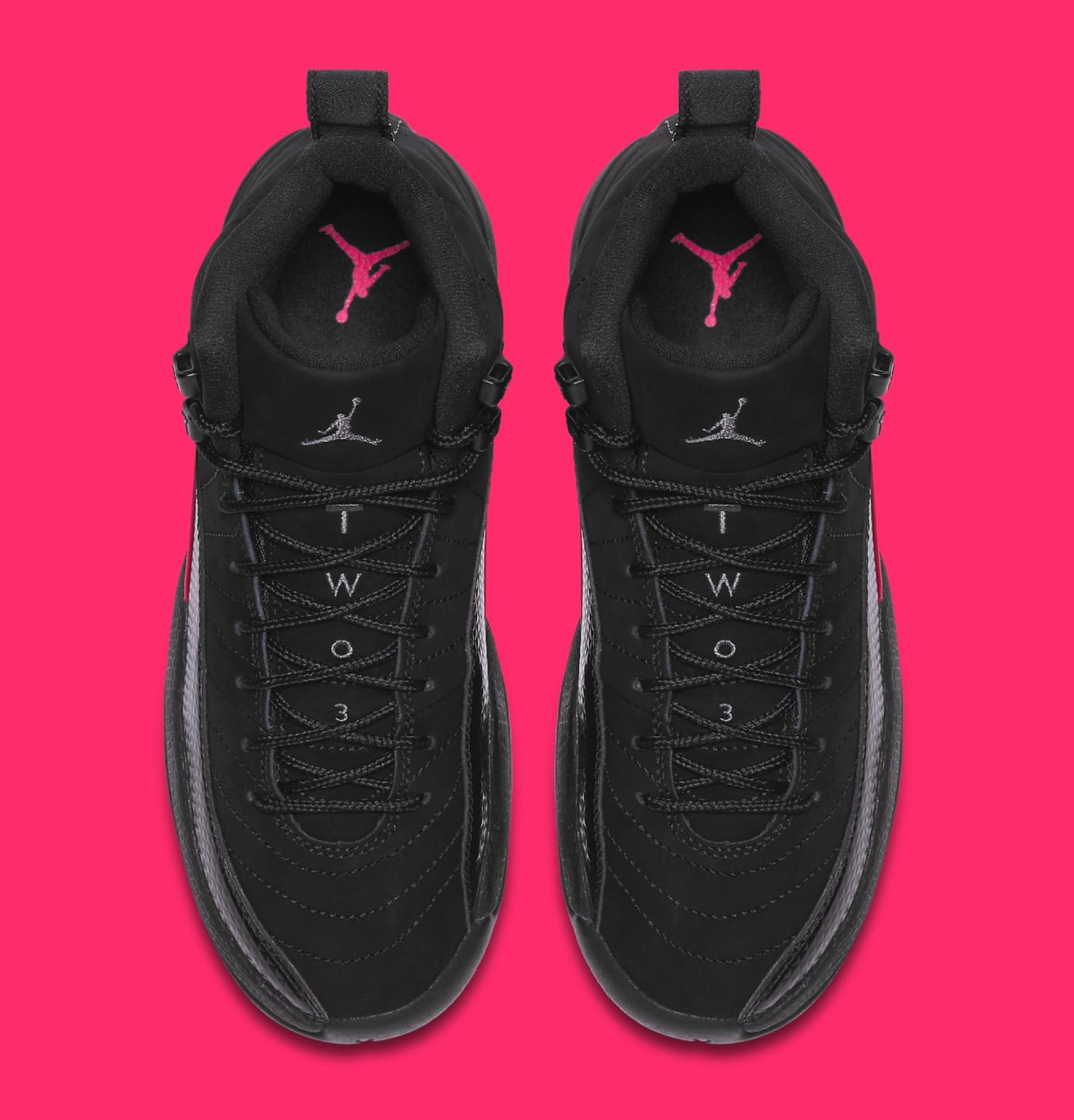 a598d25c9ea Air Jordan 12 Retro GG 'Black/Dark Grey-Rush Pink' 510815-006 ...