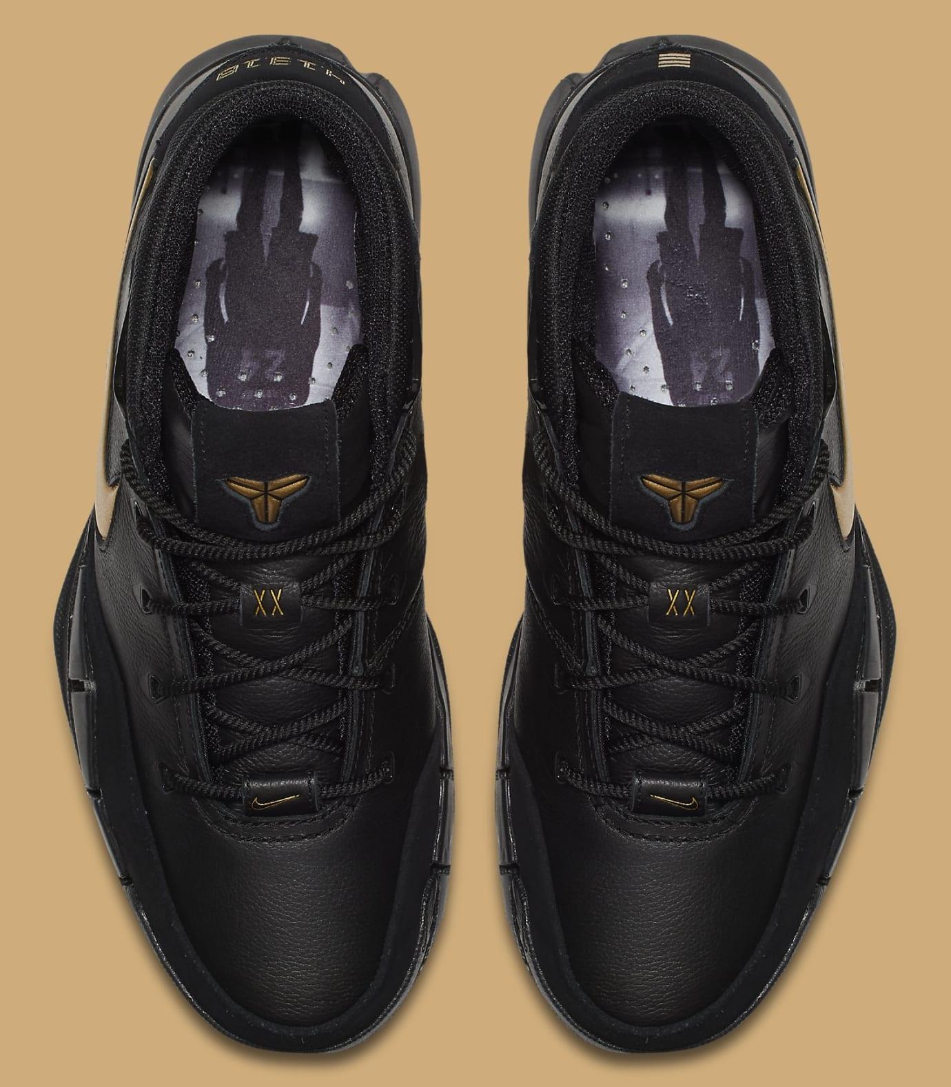 6fd4f6c3b850 Image via Nike Nike Kobe 1 Protro  Black Black White Metallic Gold  AQ2728-