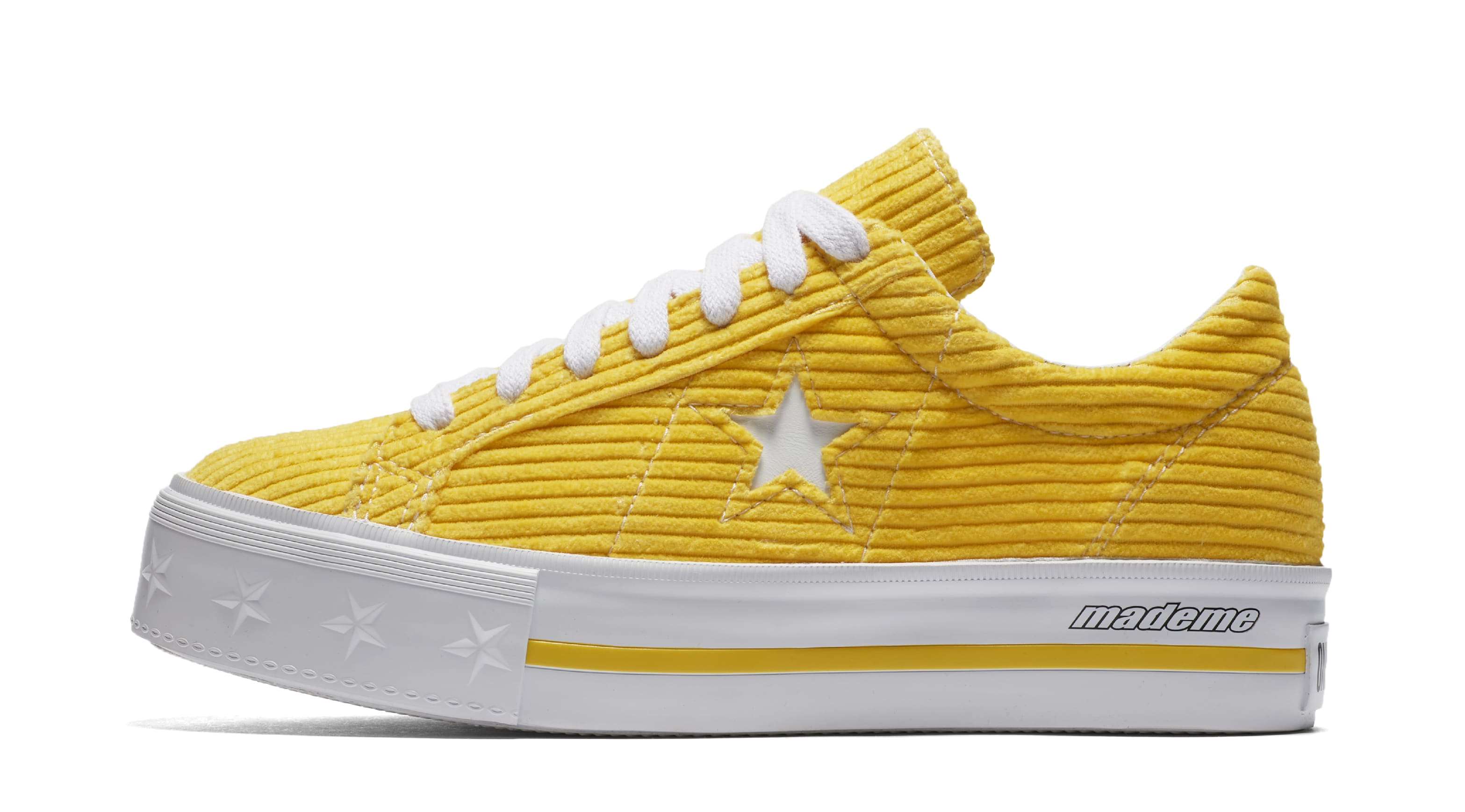 Mademe x Converse One Star 'Vibrant Yellow' (Lateral)