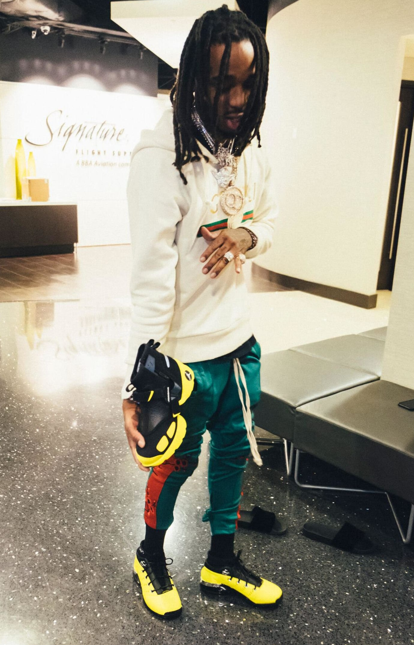 Quavo SoleFly x Jordan Trunner LX High 'Lightning'