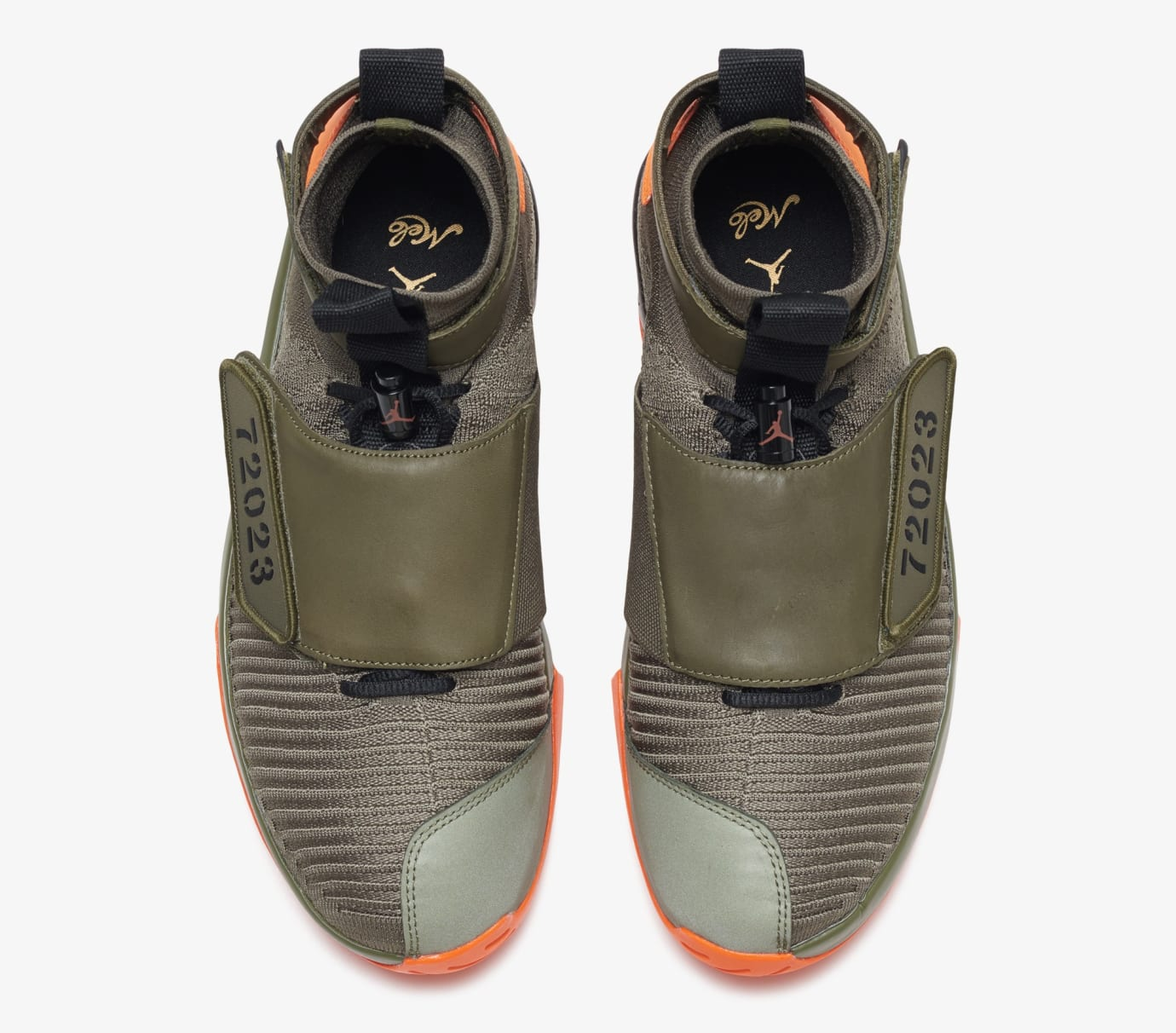 separation shoes eab24 895f9 Image via US11 · Air Jordan 20 Flyknit  Melo Olive Orange  (Top)