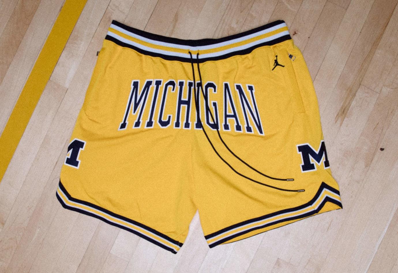 Just Don x Jordan Flight Shorts Release Date Michigan Yellow