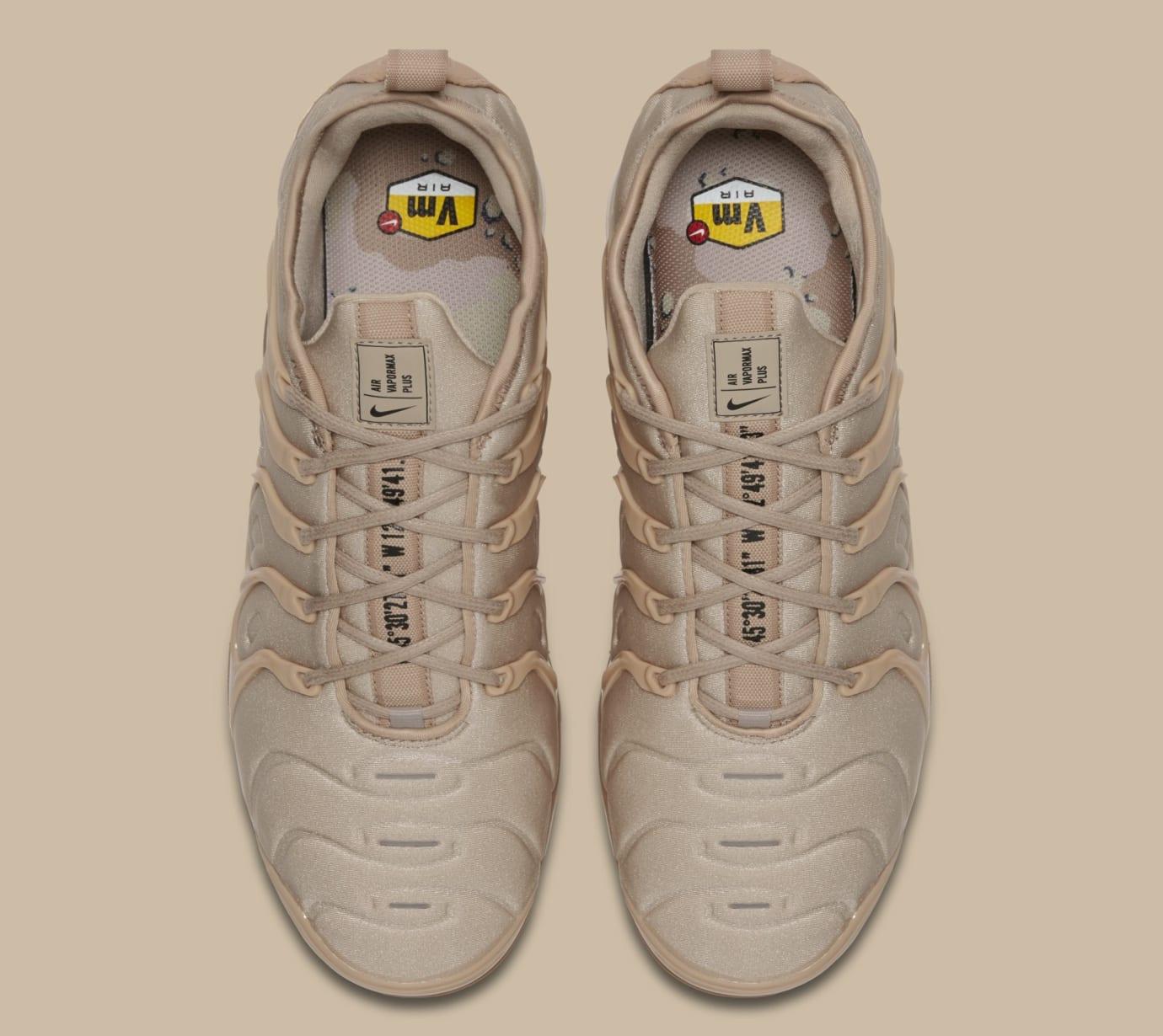 Nike VaporMax Plus 'String/Black/Desert/Gum Light Brown' AT5681-200 (Top)