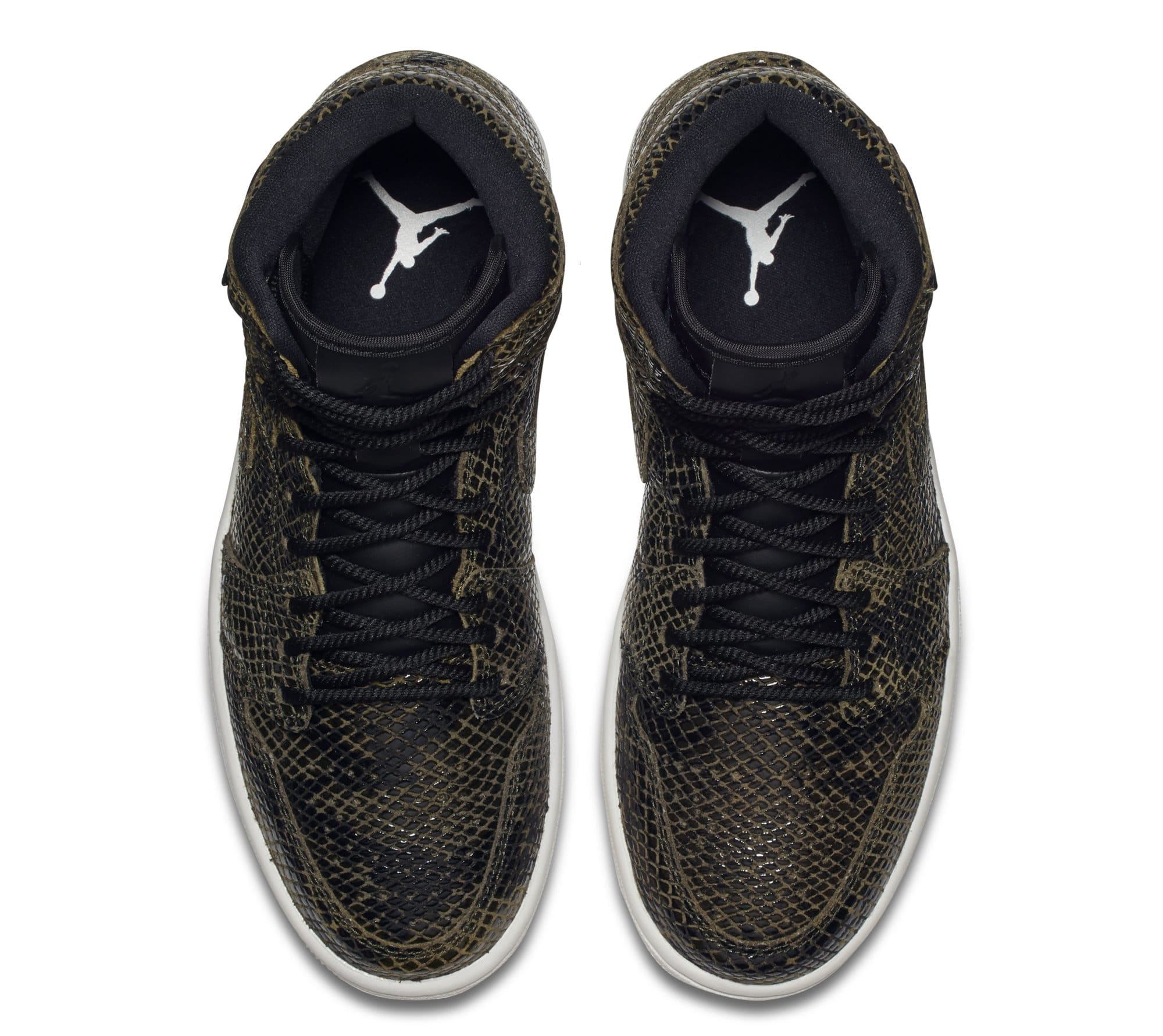 Air Jordan 1 Retro High Premium Women's Snake 'Olive Canvas' AH7389-302 (Top)