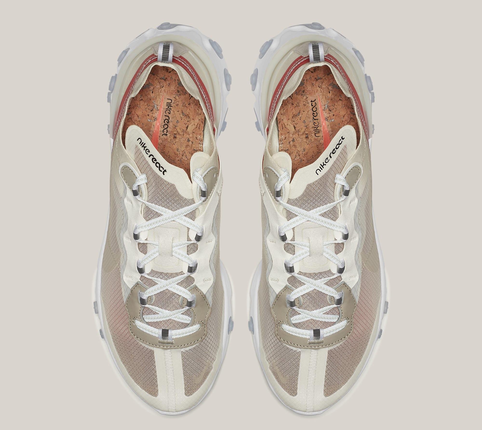 Nike React Element 87 'Sail/Light Bone/White/Rush Orange/Black' AQ1090-100 (Top)