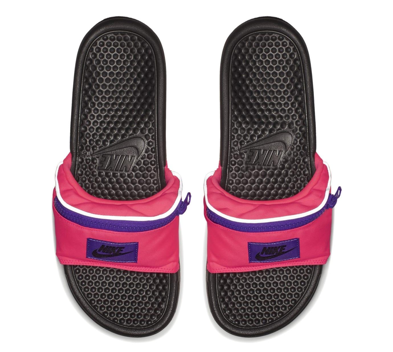 Nike Benassi JDI 'Fanny Pack' Black/Pink (Top)