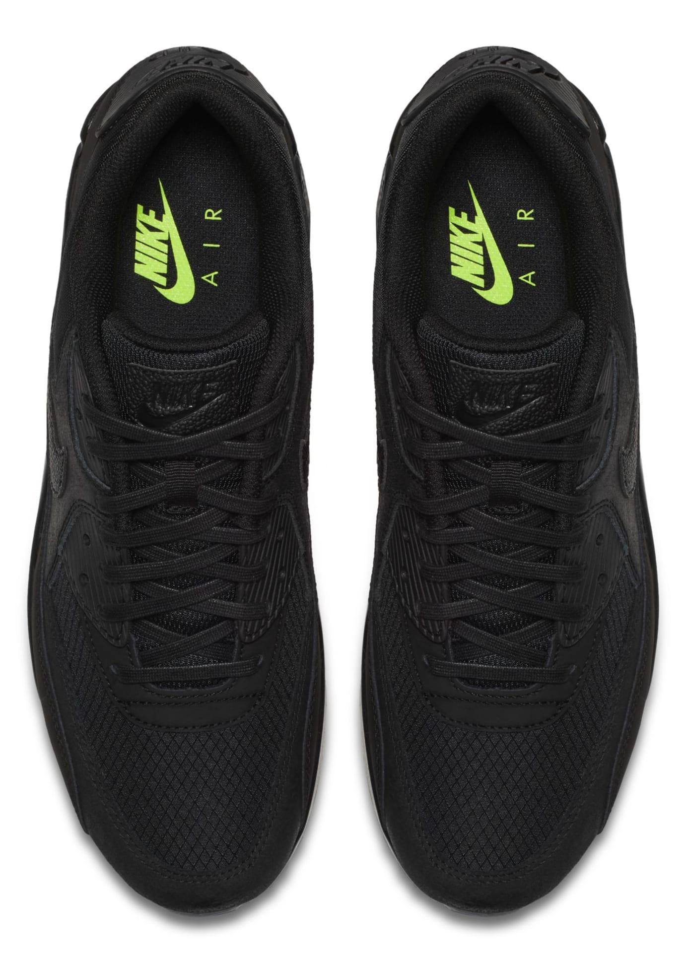 Nike Air Max 90 'Black/Volt' AQ6101-001 (Top)