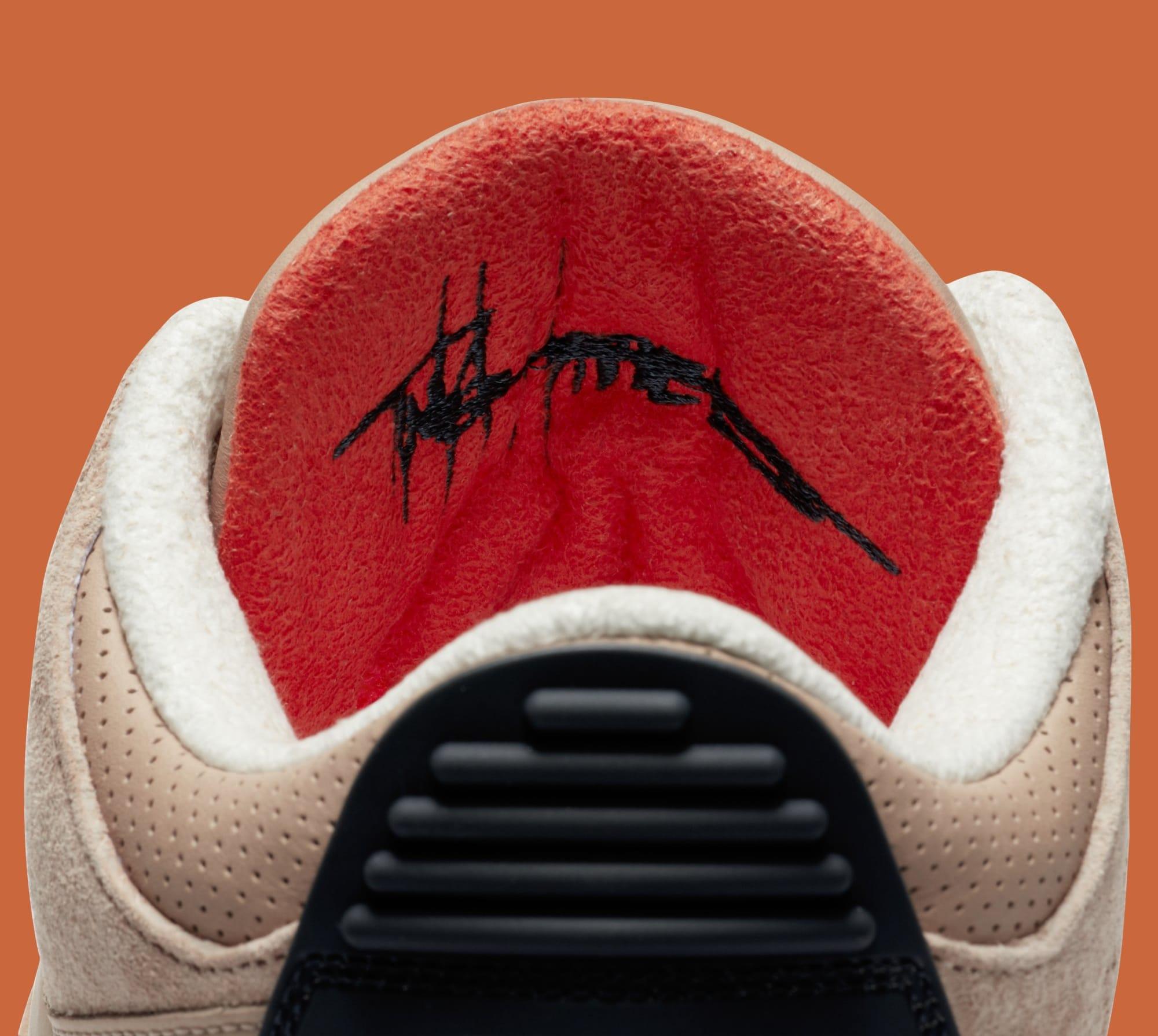 Justin Timberlake x Air Jordan 3 JTH NRG 'Bio Beige' AV6683-200 (Tongue Detail)