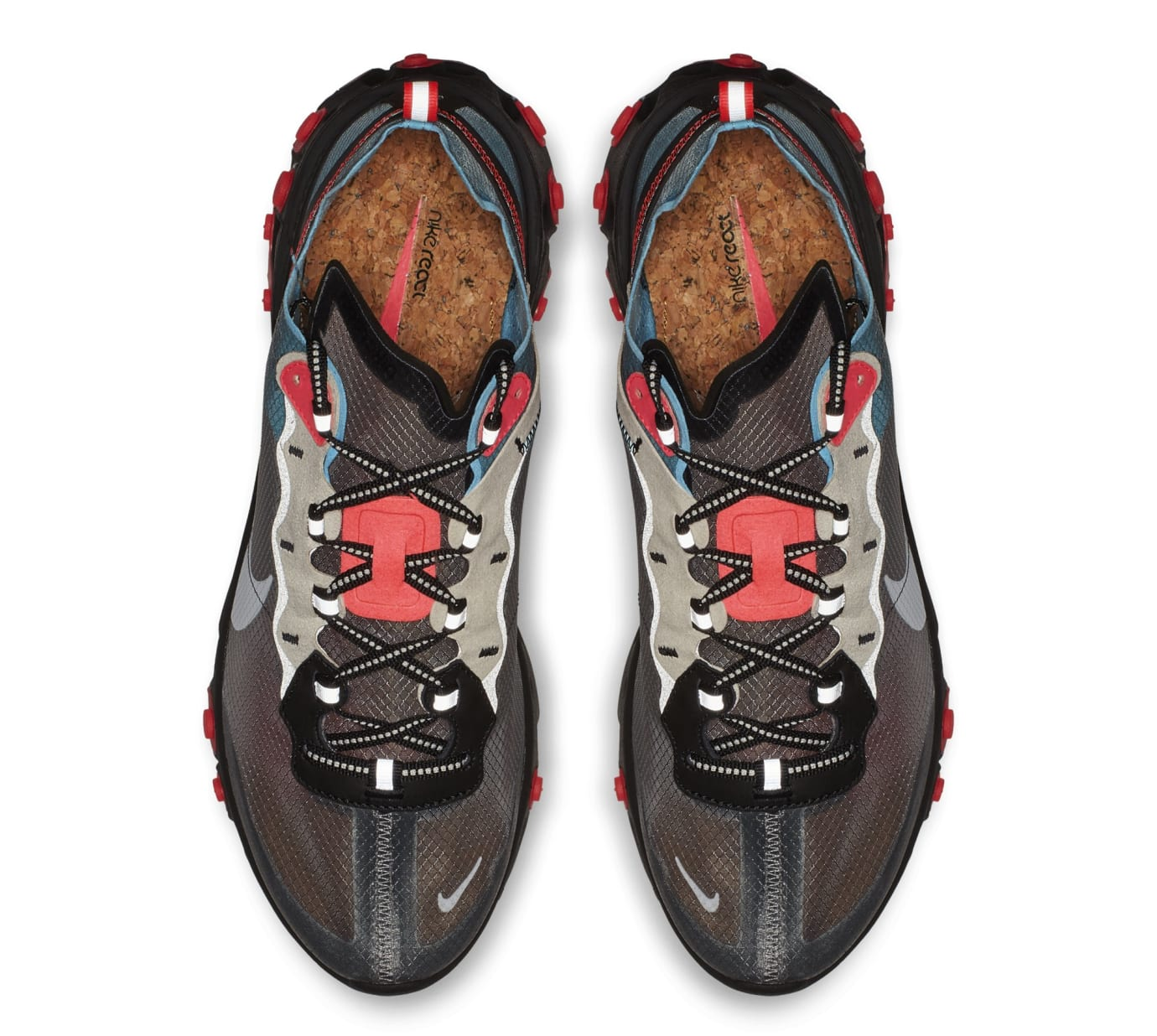 Nike React Element 87 'Black/Cool Grey/Blue Chill/Solar Red' AQ1090-006 (Top)