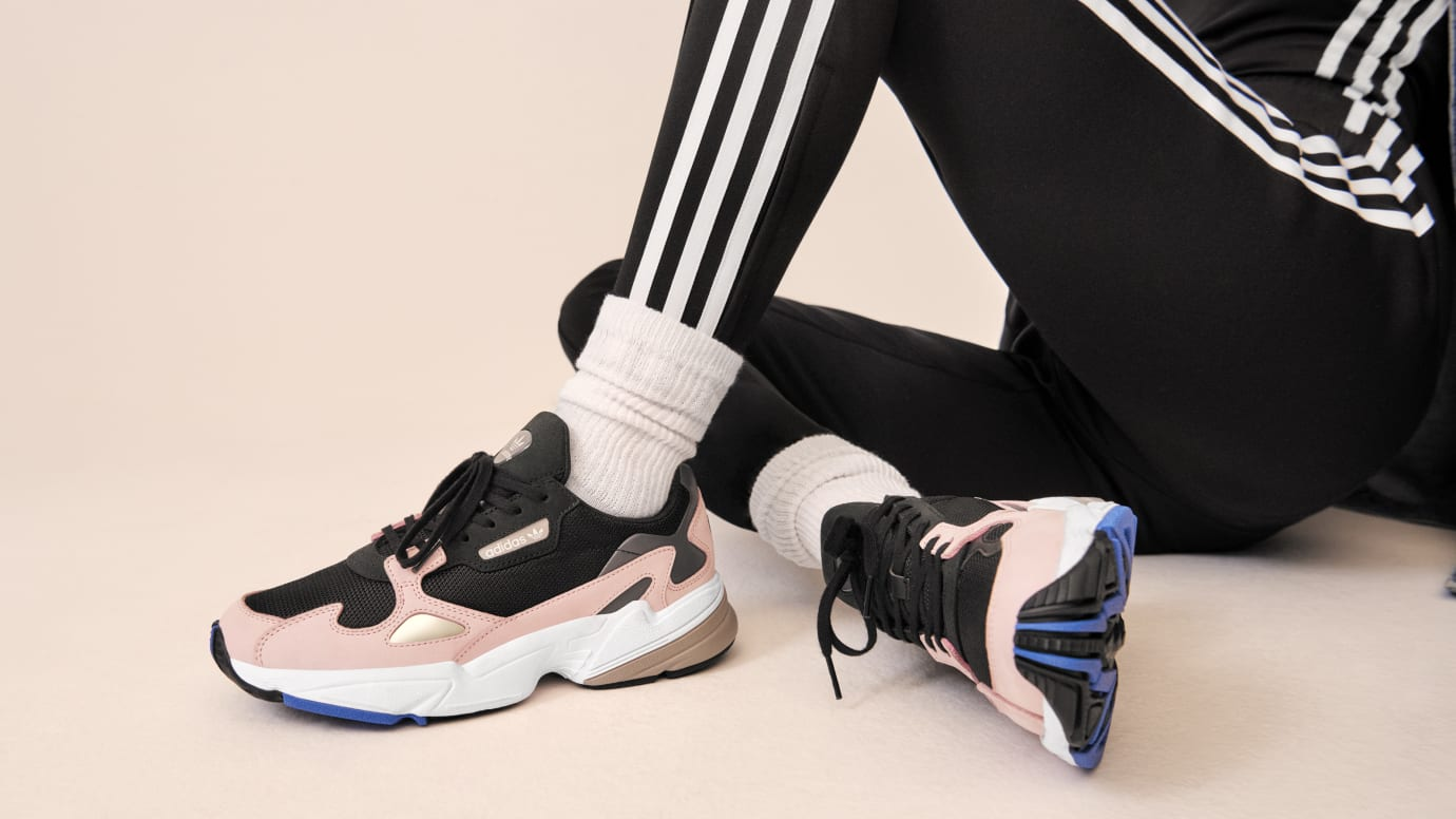 Image via Adidas kylie-jenner-adidas-falcon-fw18. Women s adidas Originals Falcon  Shoes Grey 18419160e