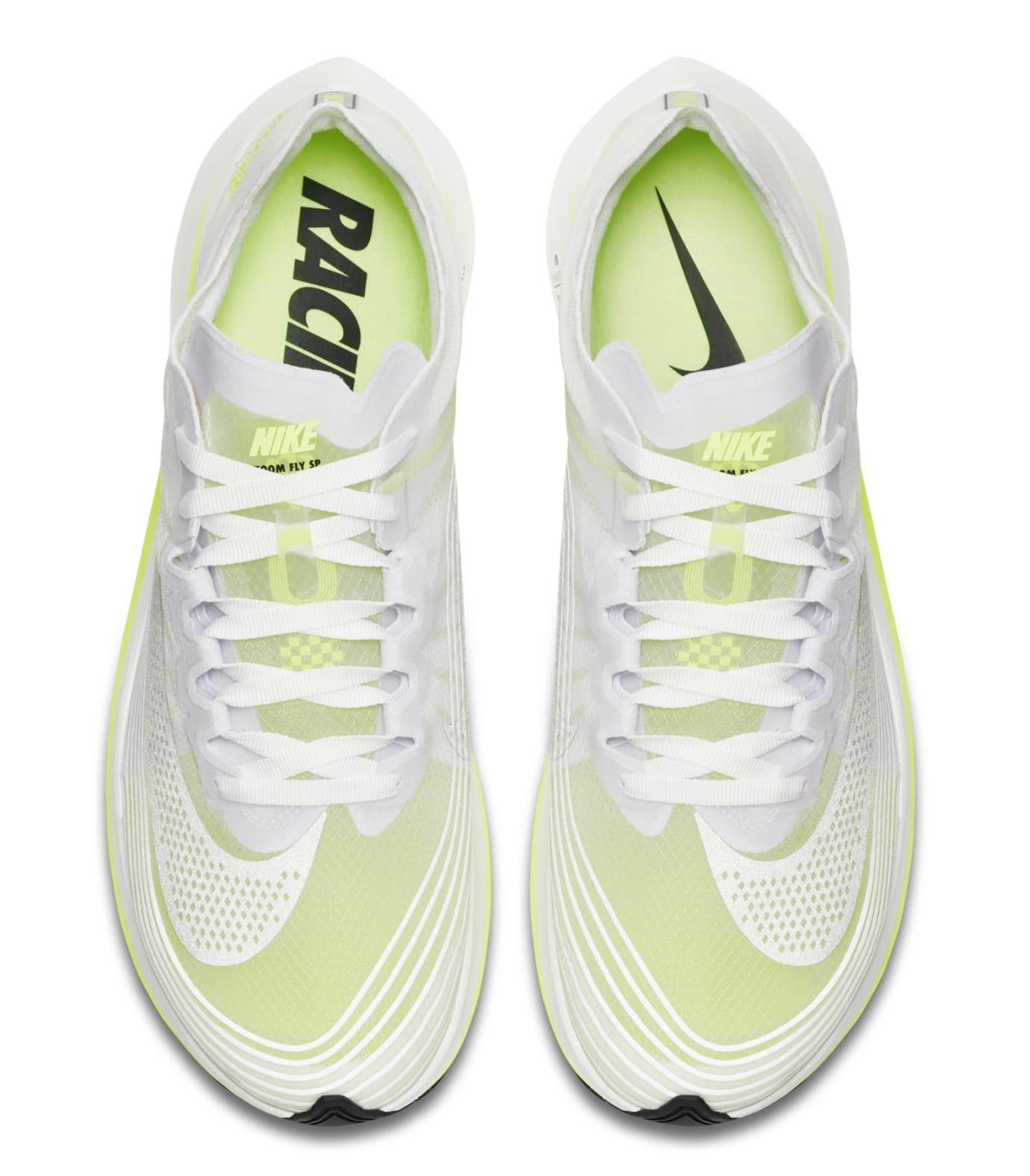 Nike Zoom Fly SP 'White/Volt/Glow' AJ9282-107 (Top)