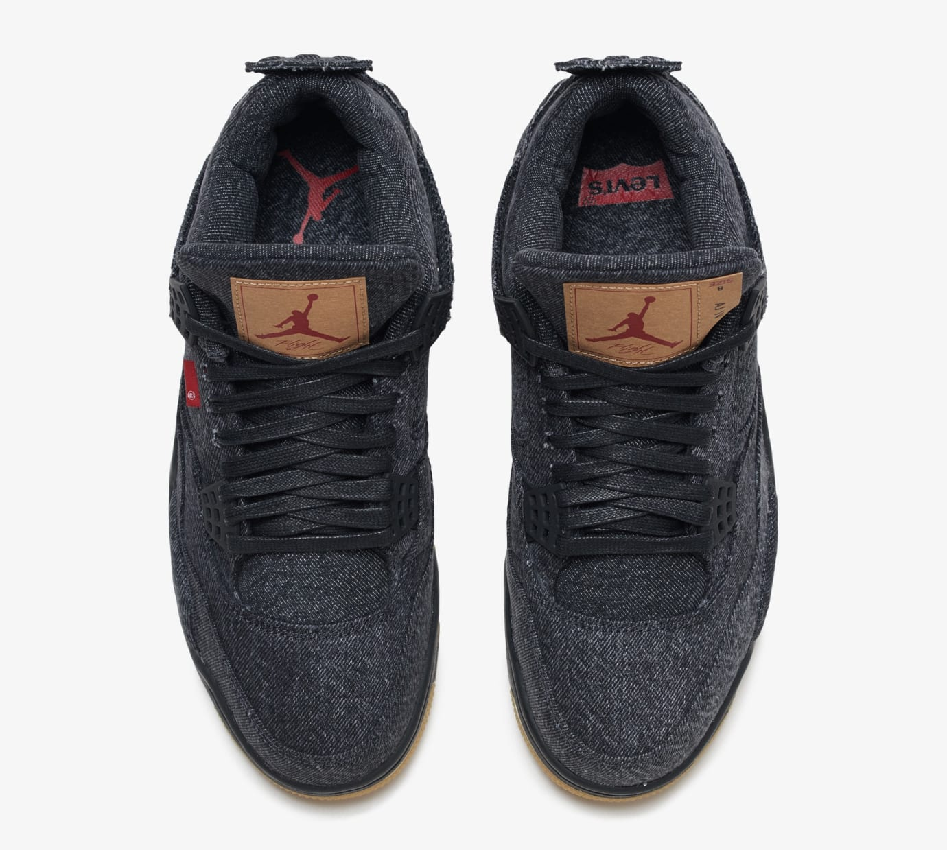Levi's x Air Jordan 4 'Black' AO2571-001 (Top)