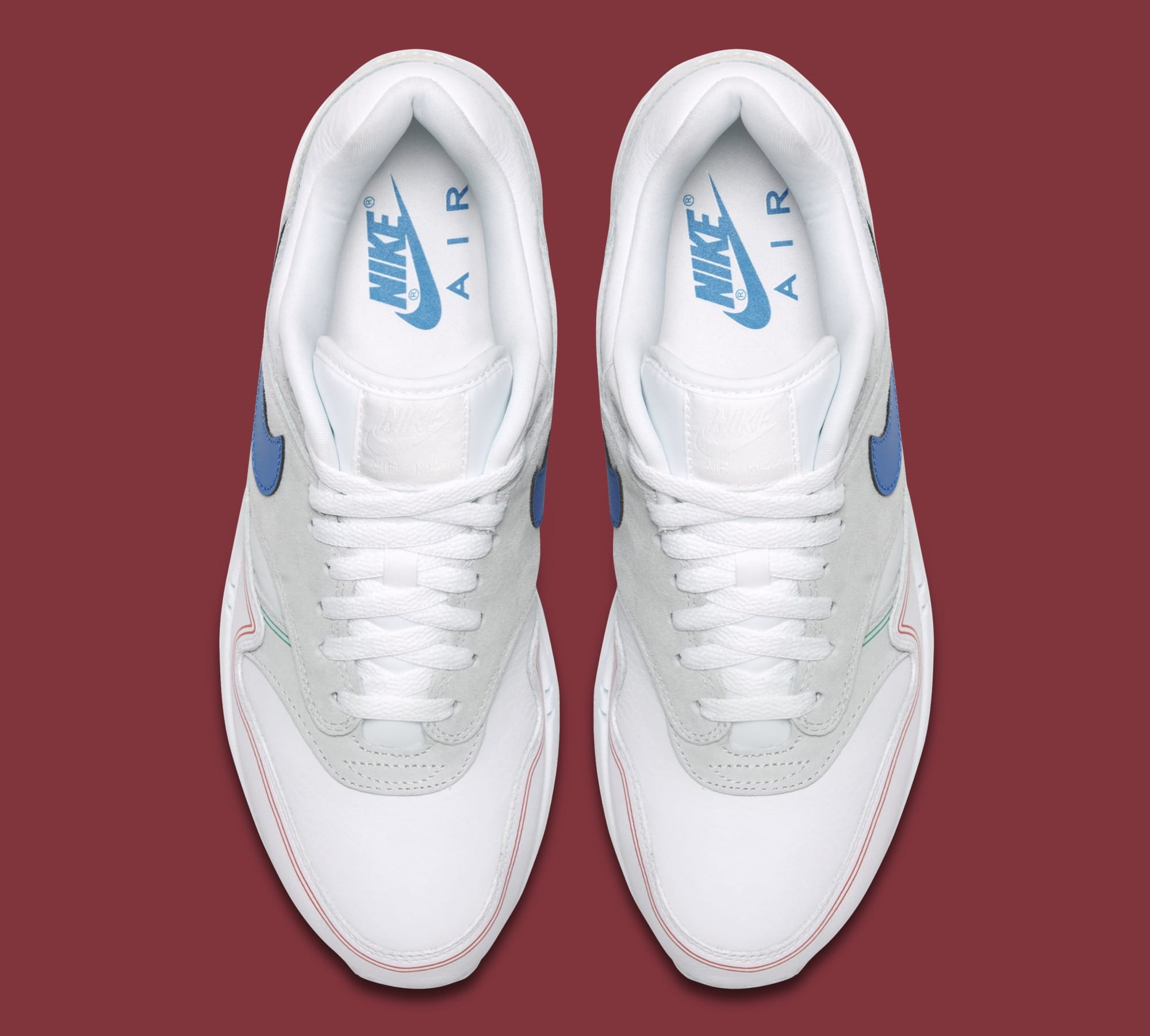 newest 9e8f3 dec1e Image via Nike Nike Air Max 1  Centre Pompidou  Pure Platinum AV3735-002  (Top)