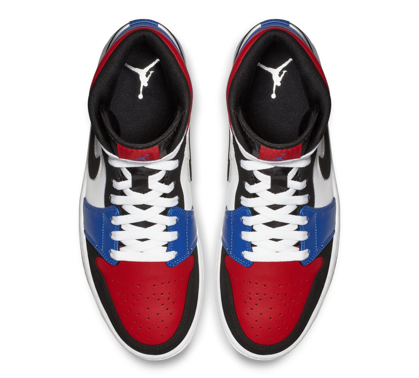 c789ee67829397 Image via Nike Air Jordan 1 Mid  Blue Red White Black  554724-124