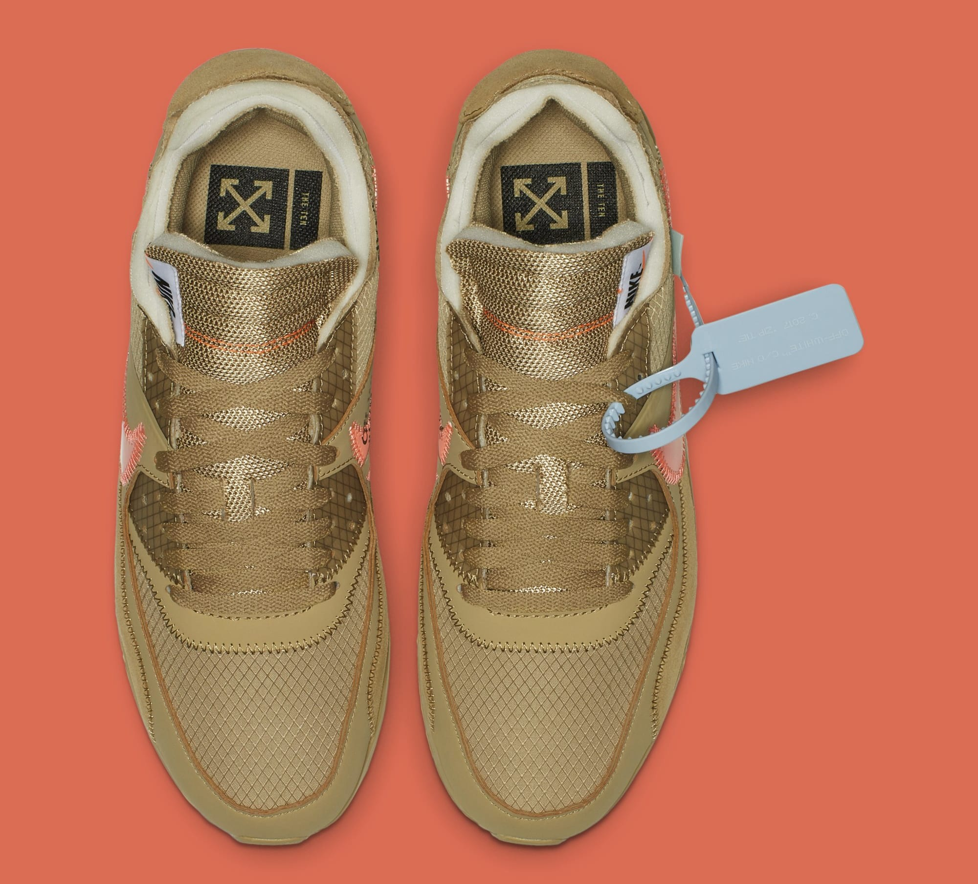Off White x Nike Air Max 90 'Desert Ore' AA7293 200 Release