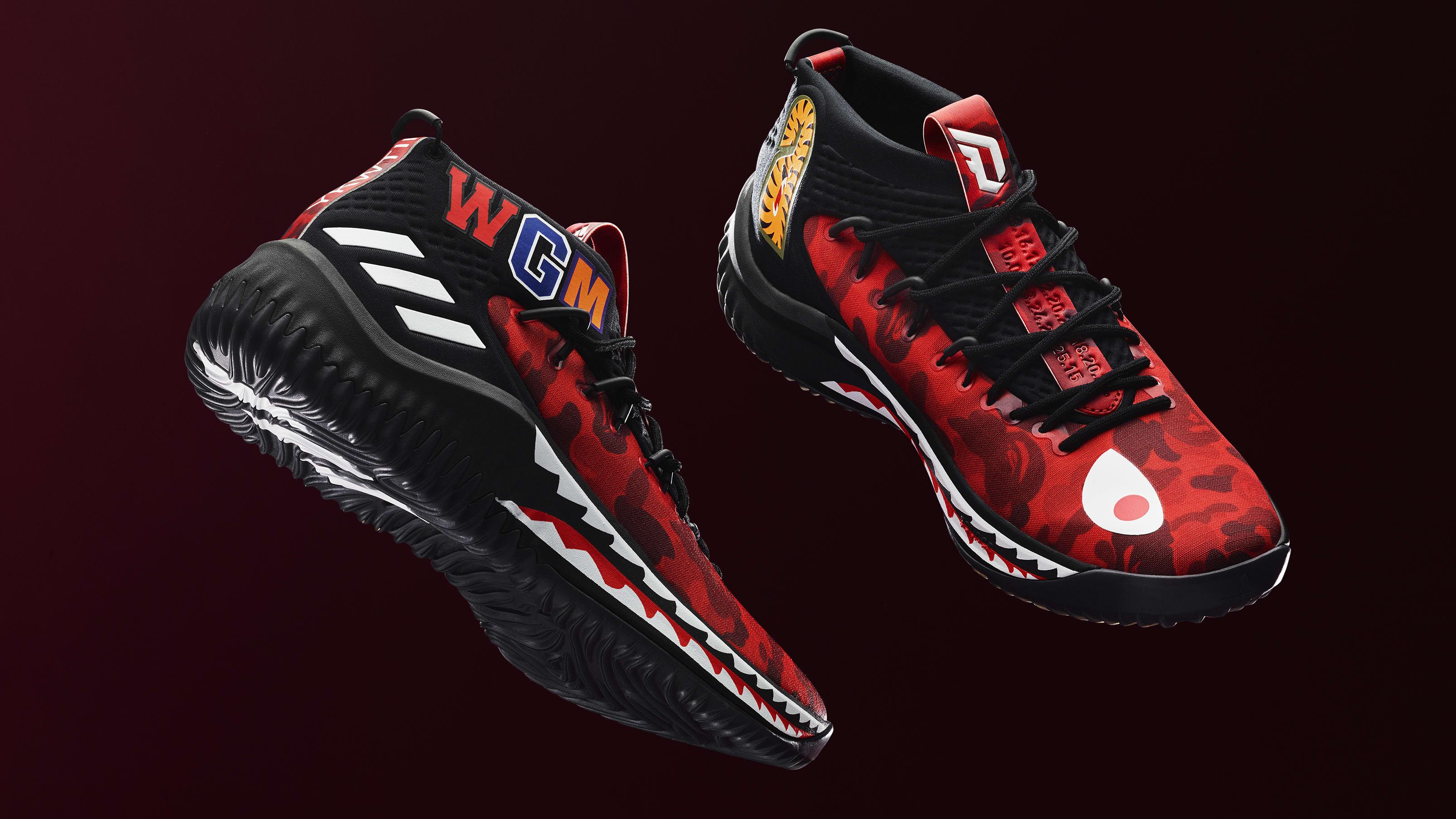 adidas-dame-4-bape-red