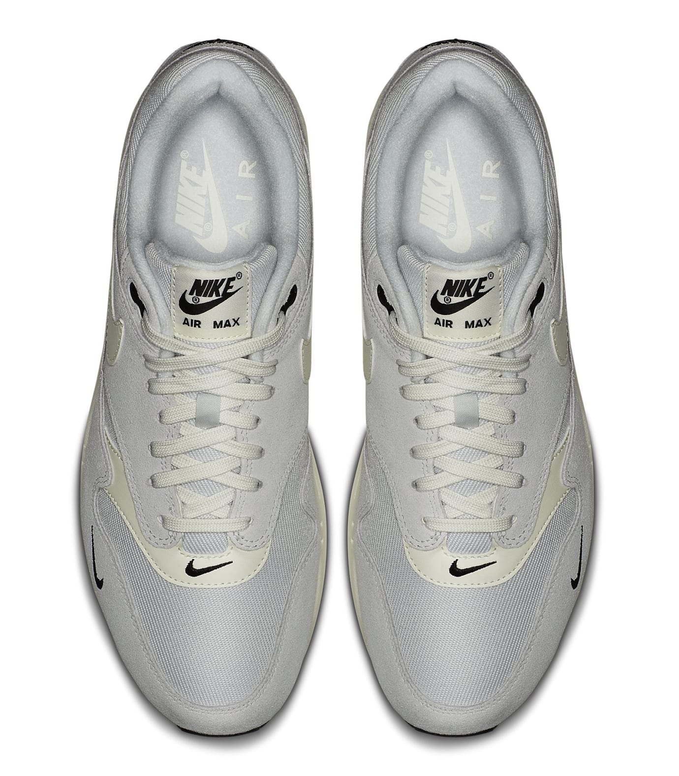 e9f326643cb120 Nike Air Max 1 Mini Swoosh  Pure Platinum  Release Date July 12 ...